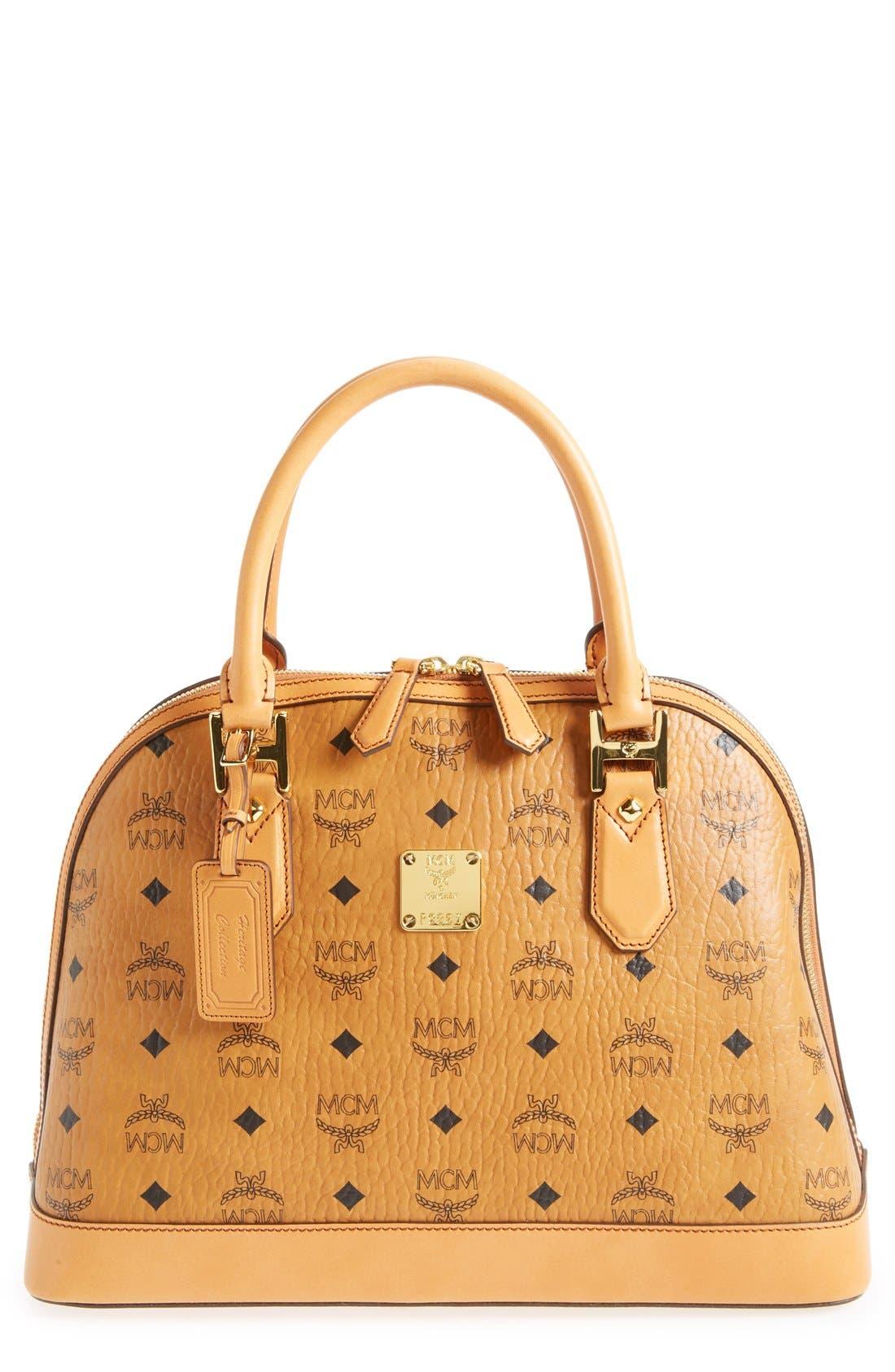 Alternate Image 1 Selected - MCM 'Medium Heritage' Coated Canvas Bowler Bag