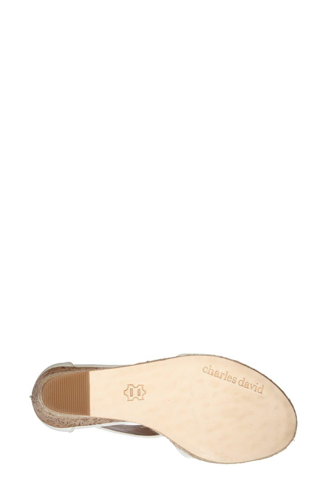 Alternate Image 4  - Charles David 'Olivia' Wedge Sandal (Women)