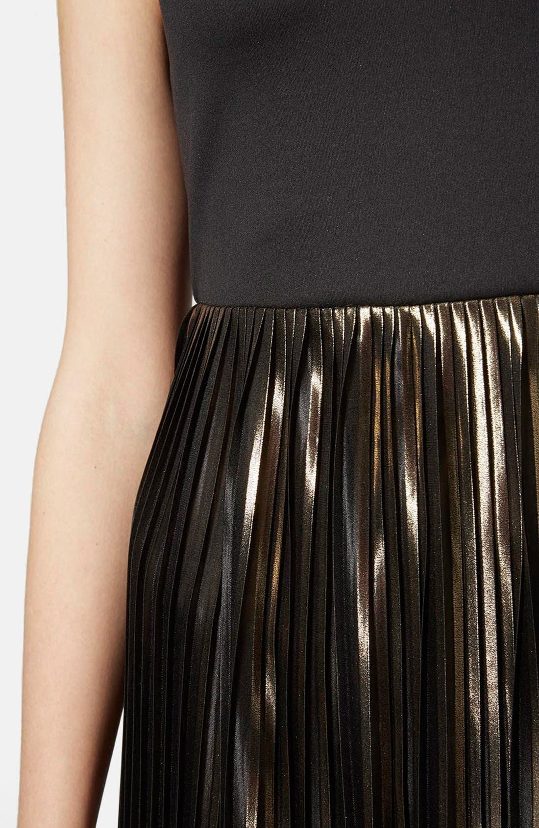 Alternate Image 4  - Topshop Strappy Pleated Maxi Dress