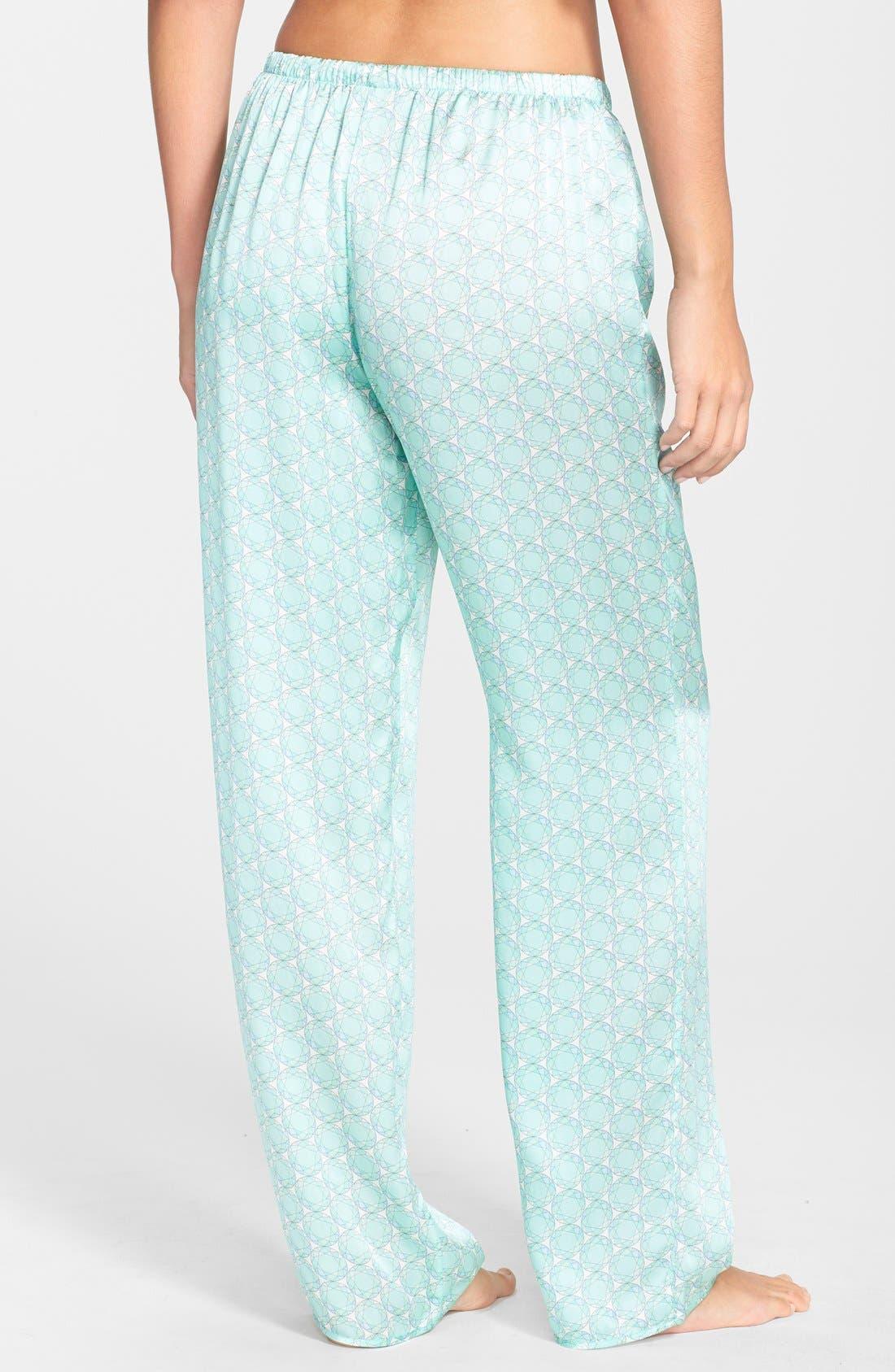 Alternate Image 2  - Beautiful Bottoms London 'Panama' Satin Pajama Pants