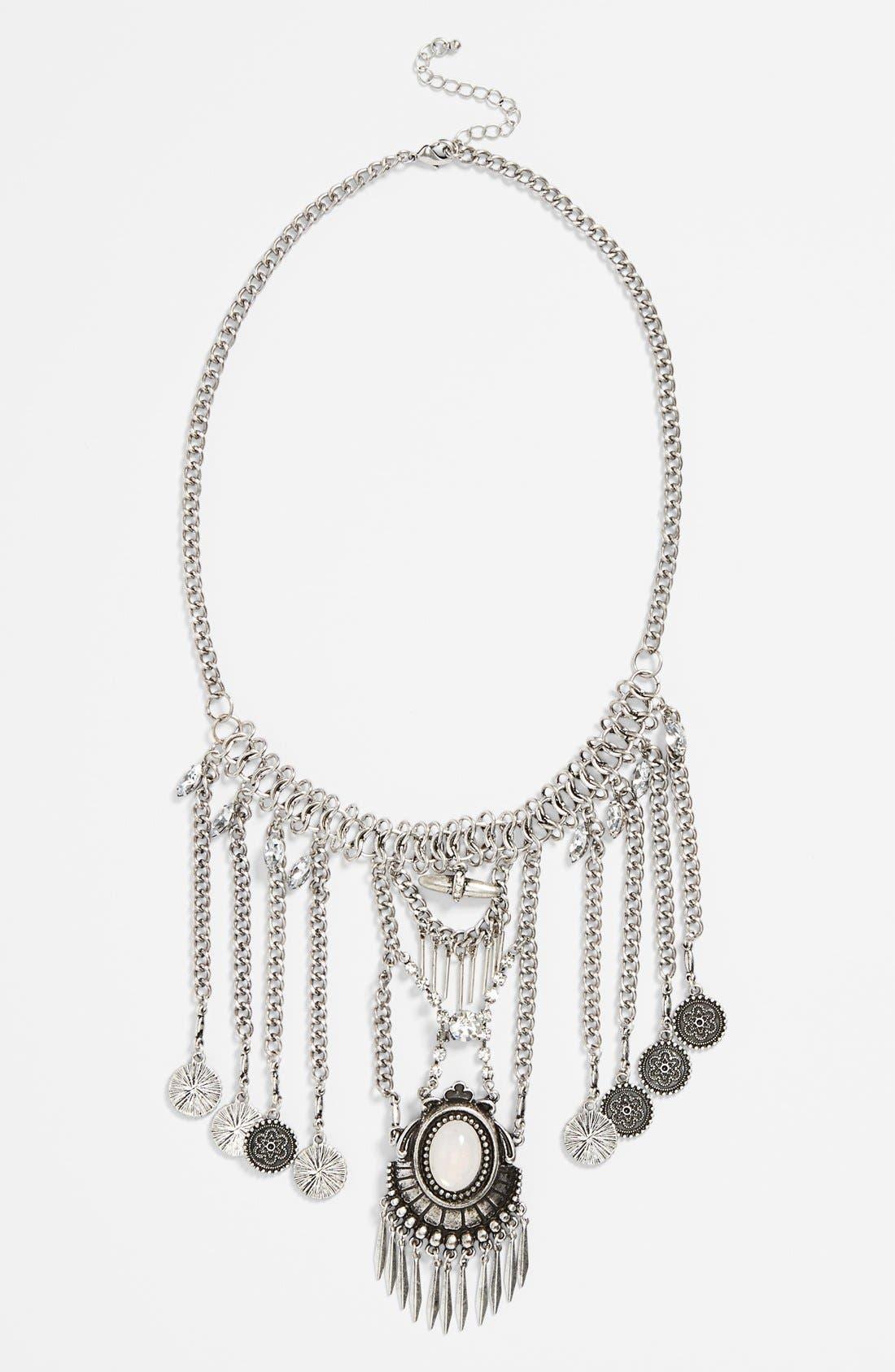 Alternate Image 1 Selected - BP. Boho Crystal Statement Necklace (Juniors)