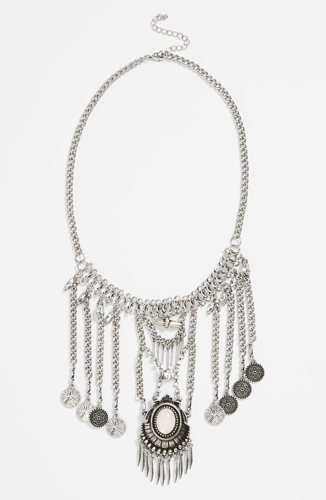 Main Image - BP. Boho Crystal Statement Necklace (Juniors)