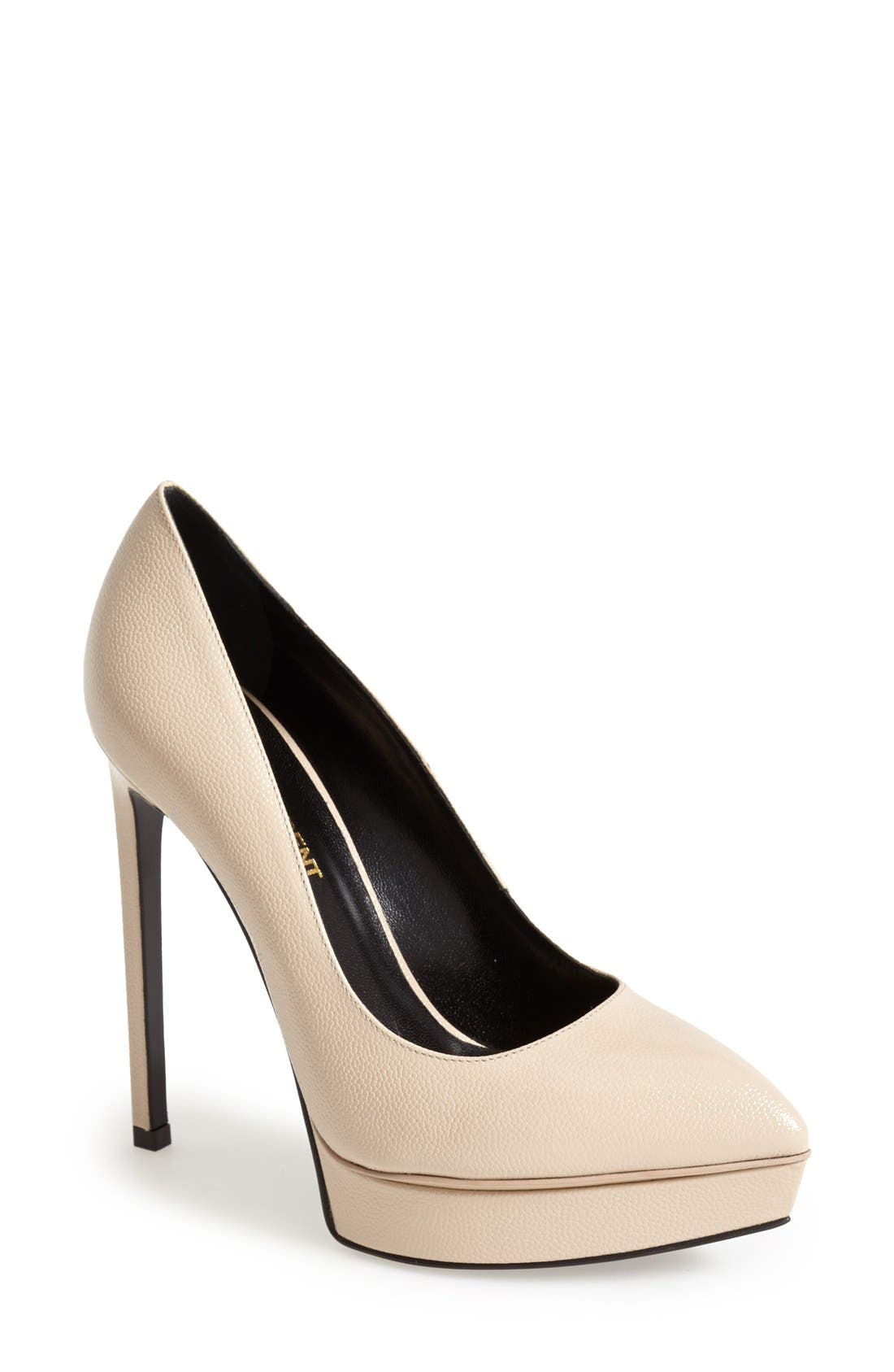 Alternate Image 1 Selected - Saint Laurent 'Janis' Pointy Toe Platform Pump (Women)
