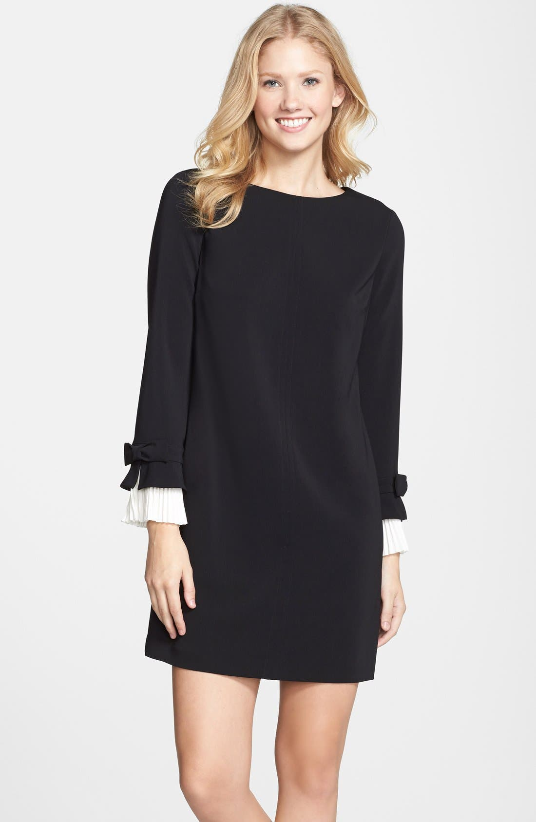 Alternate Image 1 Selected - Cynthia Steffe Pleated Sleeve Shift Dress