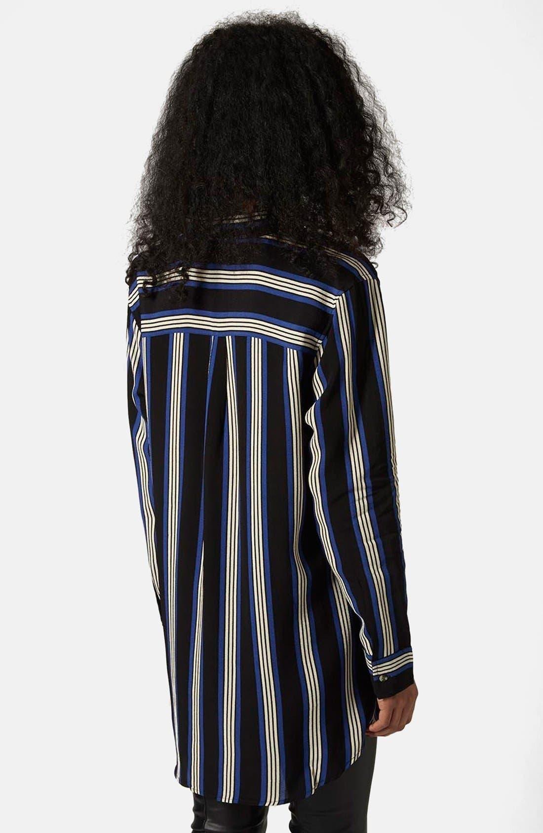 Alternate Image 2  - Topshop Oversize Stripe Shirt