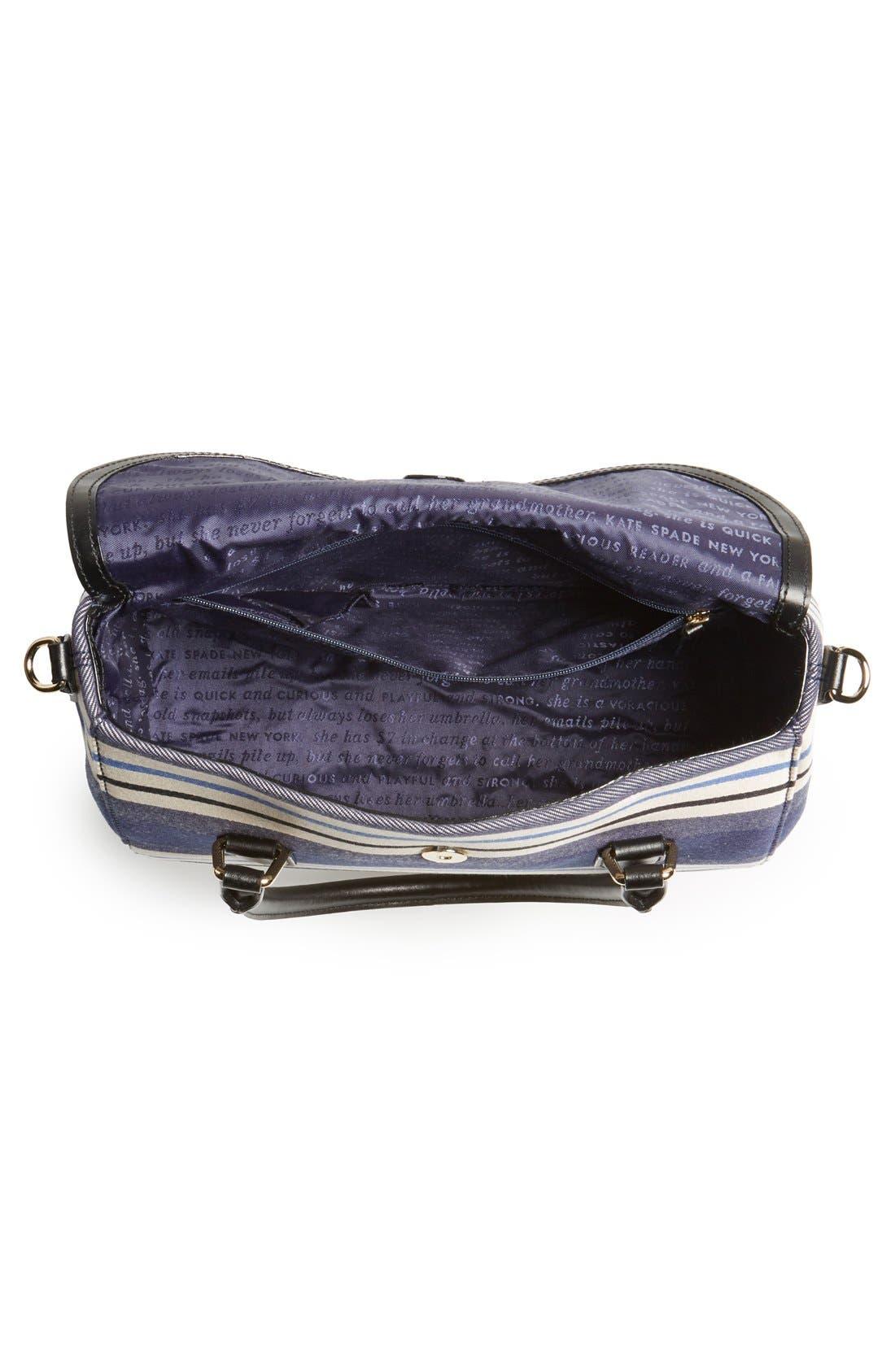 Alternate Image 3  - kate spade new york 'grove court - small leslie' stripe satchel
