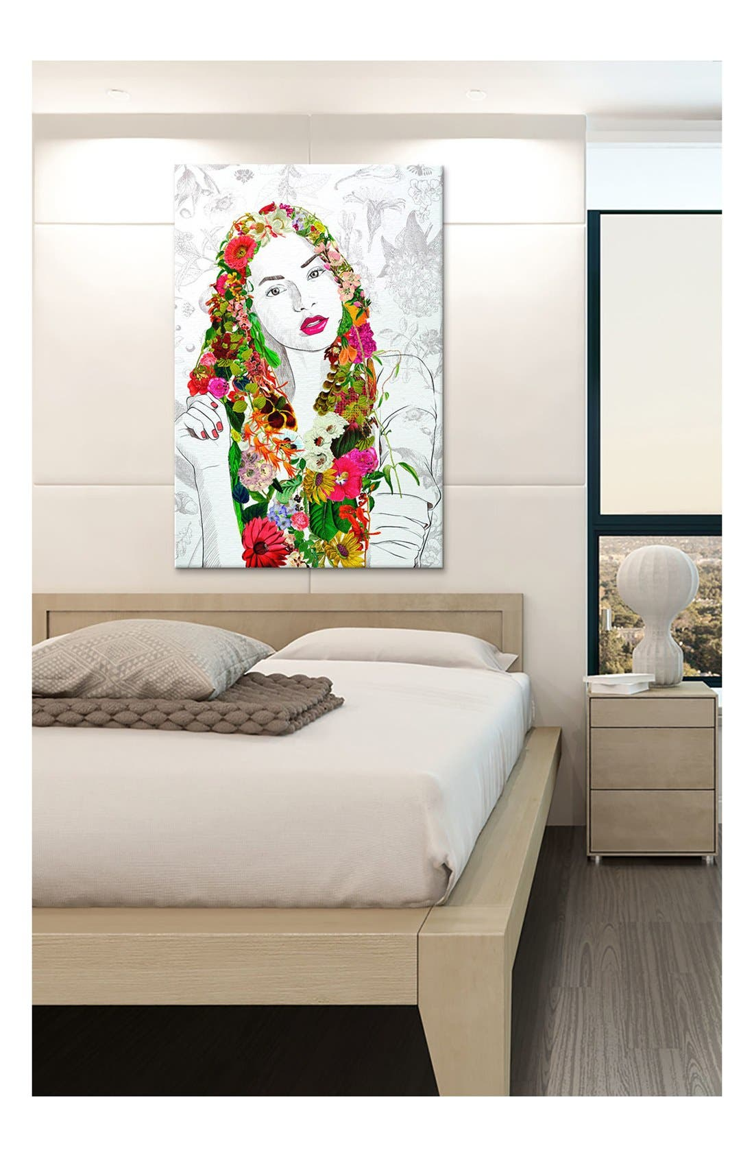 Alternate Image 2  - iCanvas 'Flower Fairy - DarkLord' Giclée Print Canvas Art