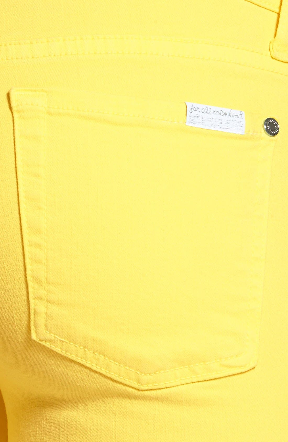 Alternate Image 3  - 7 For All Mankind® 'The Ankle Skinny' Jeans (Blazing Yellow)