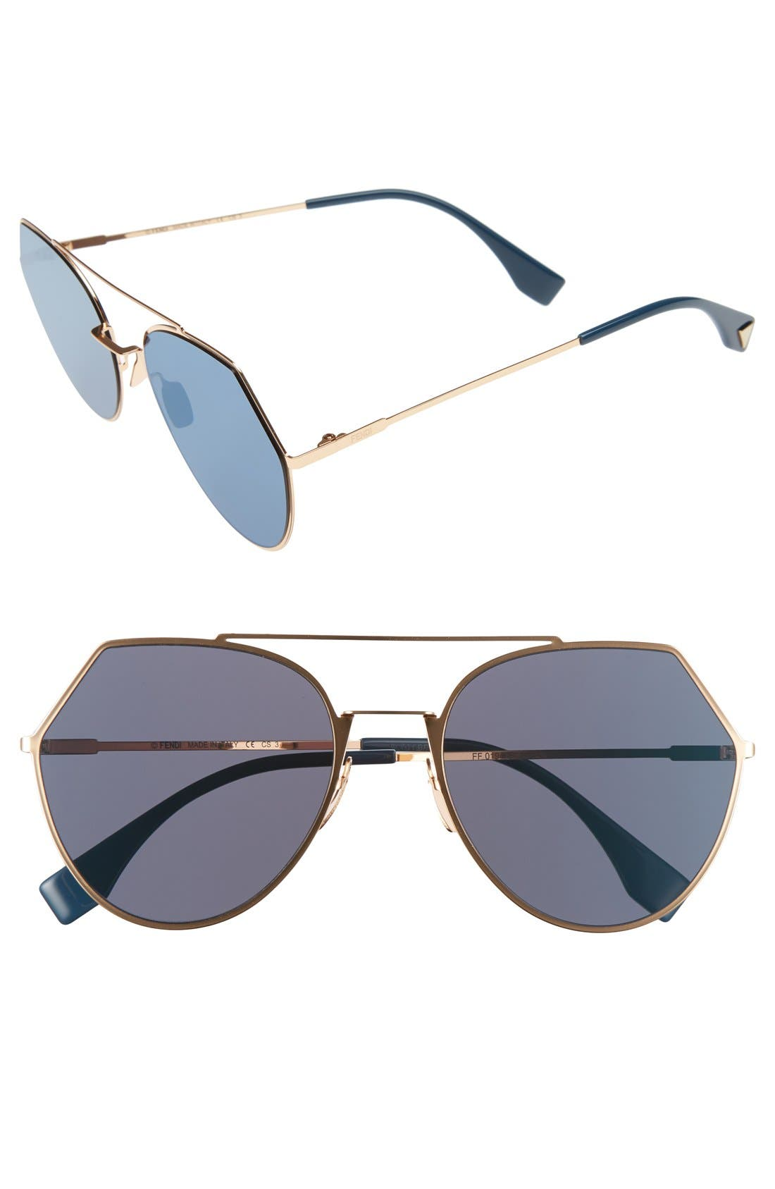 Fendi Eyeline 55mm Sunglasses