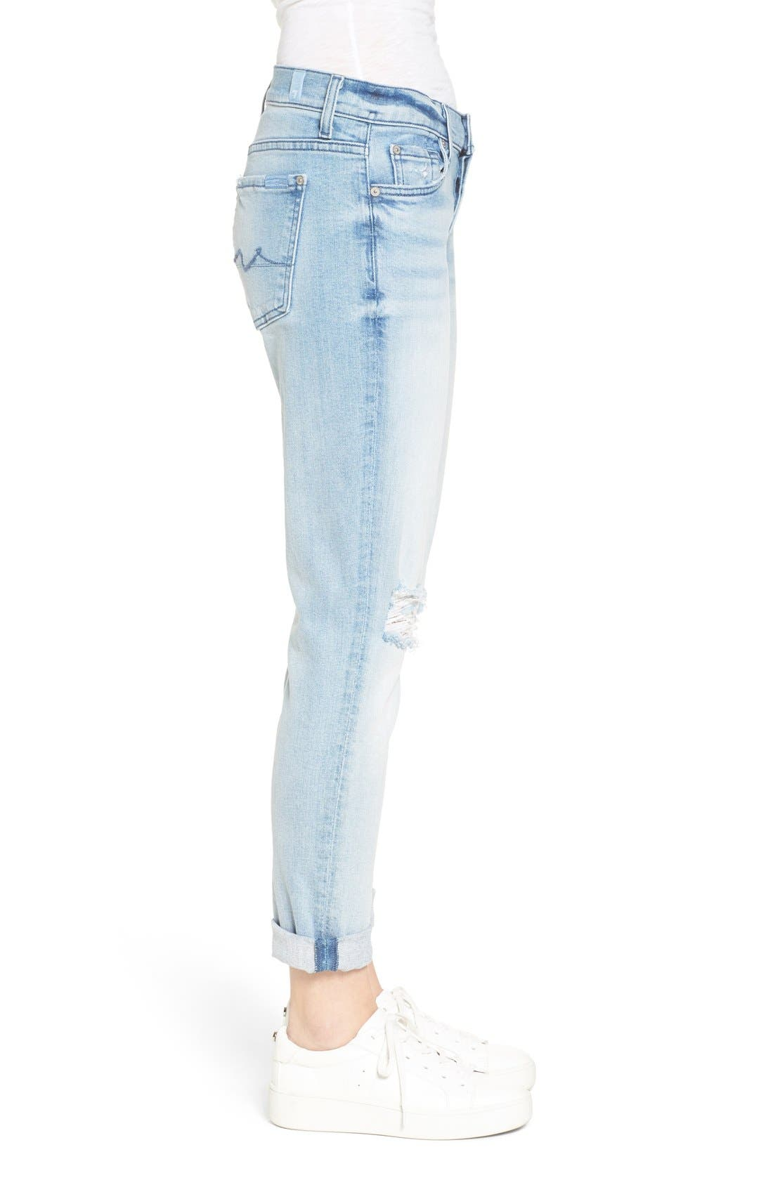 Alternate Image 3  - 7 For All Mankind® 'Josefina' Boyfriend Jeans (Bright Bristol 2)