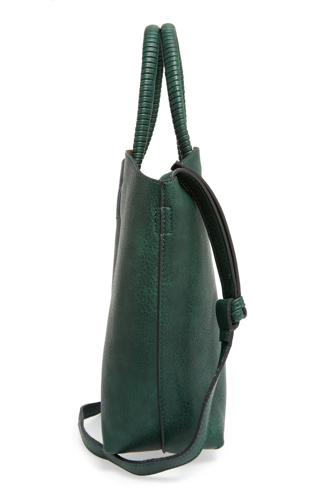 Alternate Image 5  - Street Level Faux Leather Dome Tote