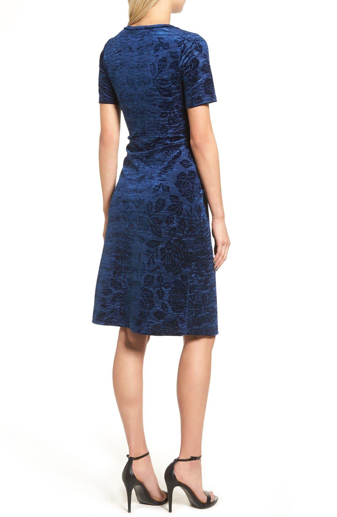Alternate Image 2  - Everly Floral Velvet Cutout Dress