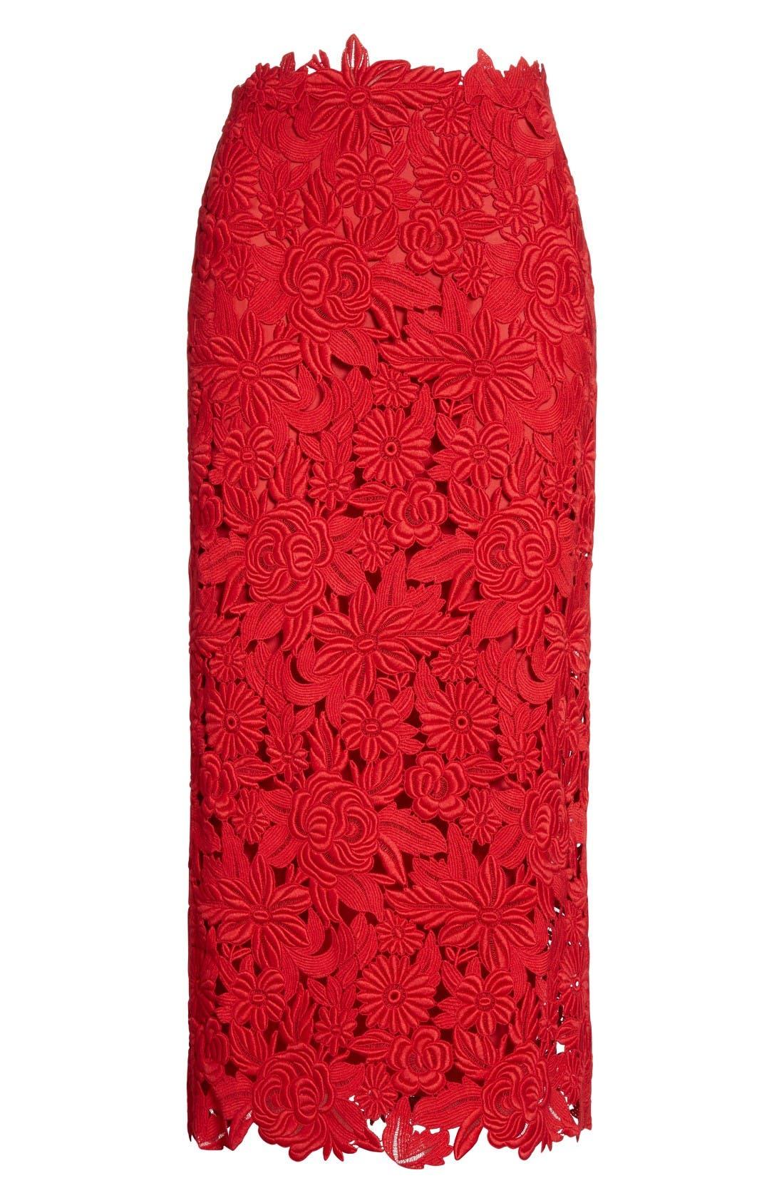 Alternate Image 4  - Valentino Guipure Lace Midi Skirt