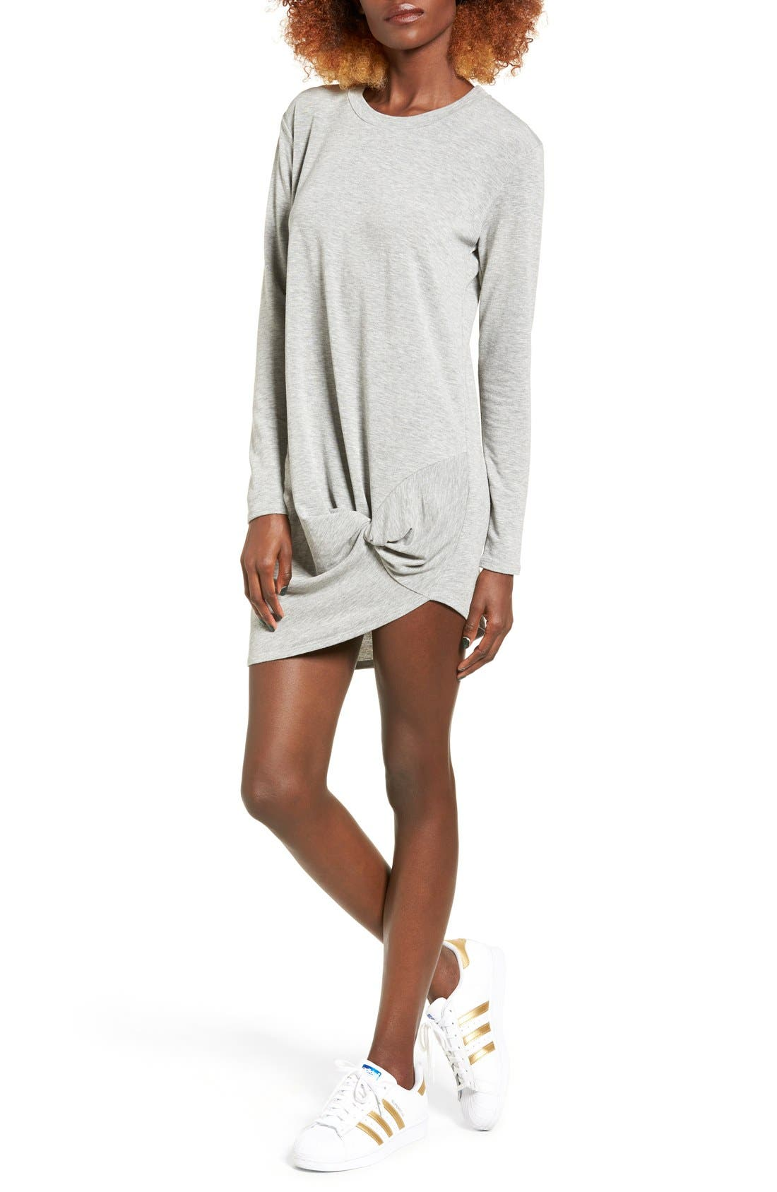 Alternate Image 1 Selected - Michelle by Comune Woodway Knotted Hem T-Shirt Dress