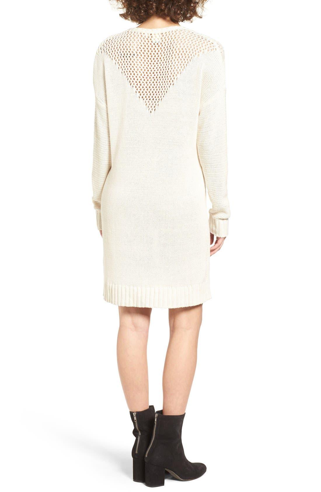 Alternate Image 2  - Roxy Borrowed Time Open Knit Sweater Dress