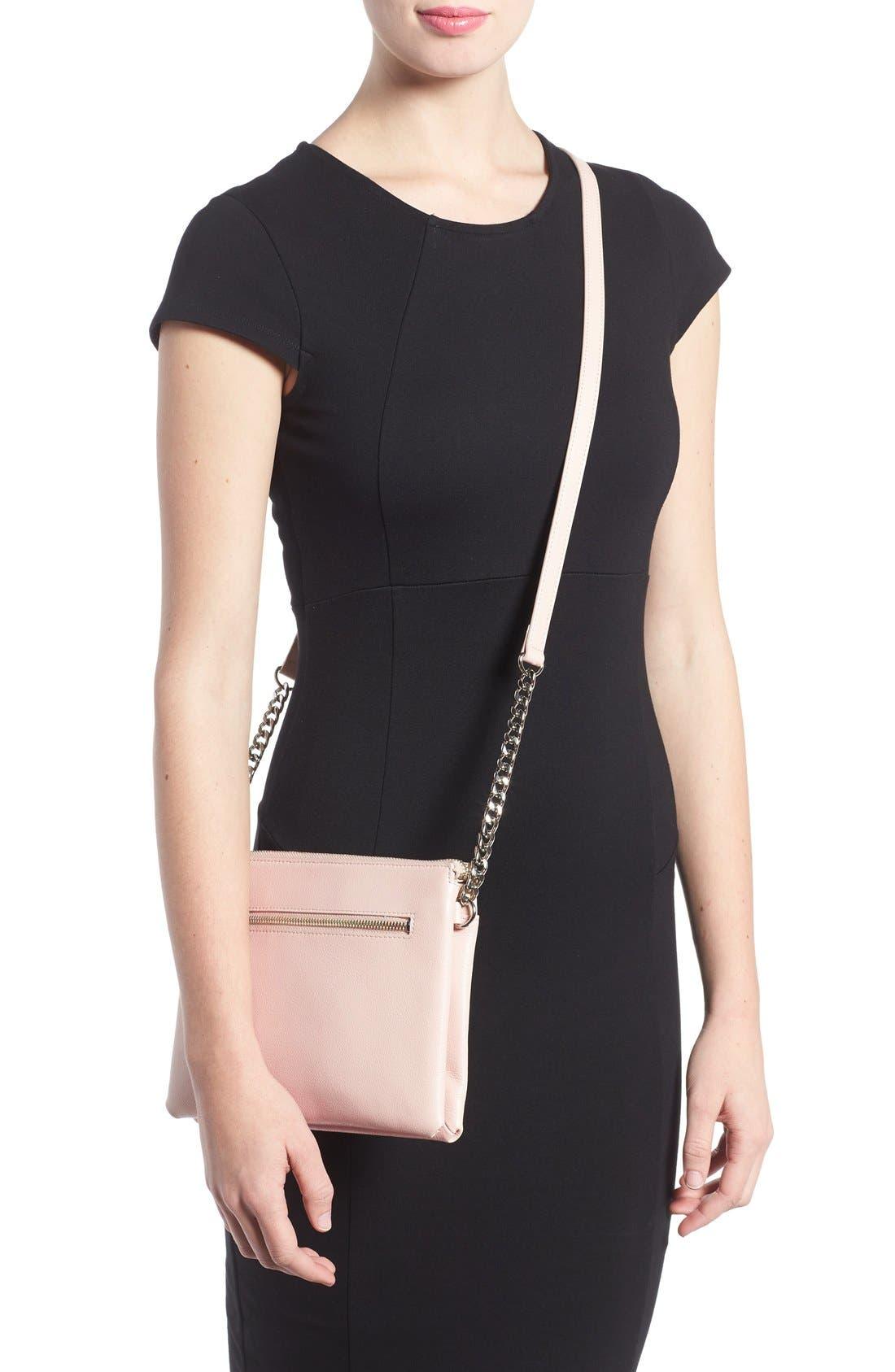 Alternate Image 2  - Halogen® Leather Crossbody Bag