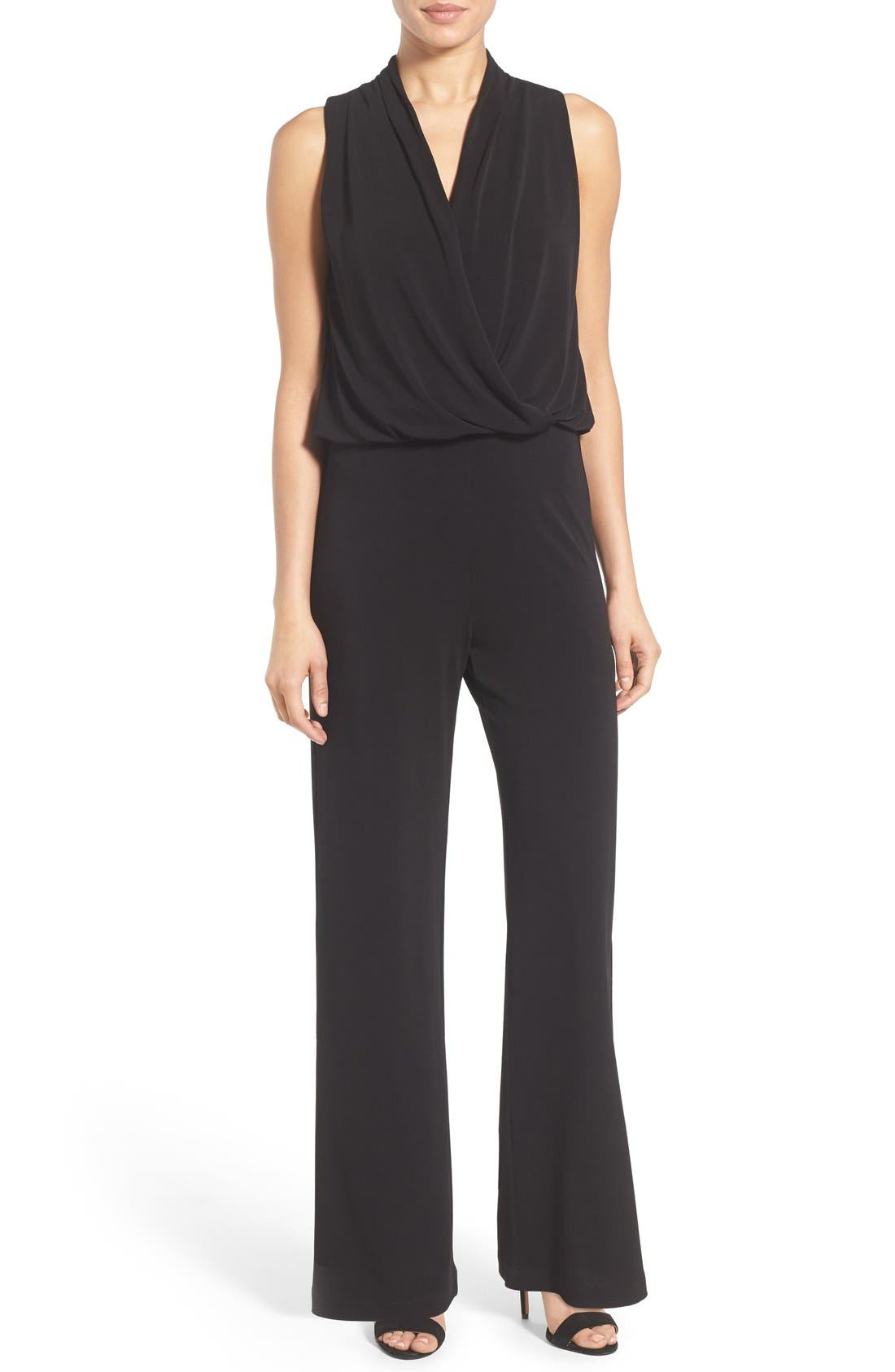 Karen Kane Sleeveless Wide Leg Jumpsuit