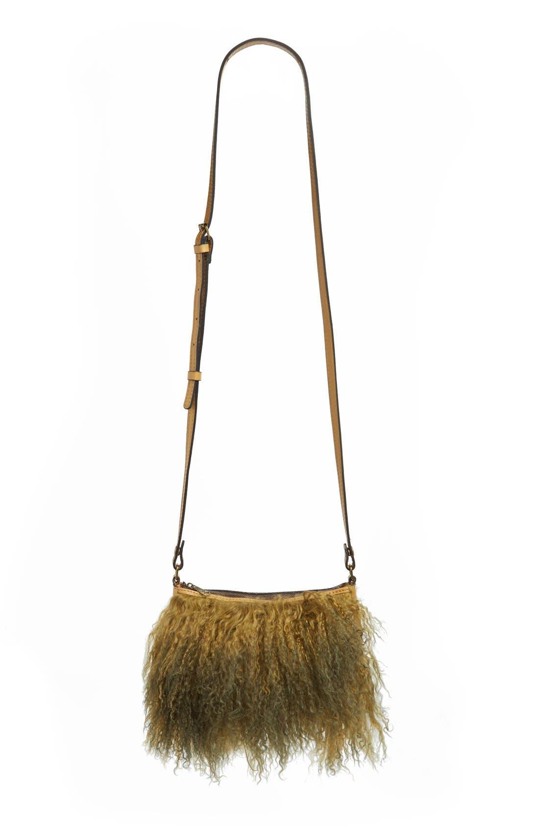 Main Image - Patricia Nash Small Paulo Genuine Shearling Crossbody Bag