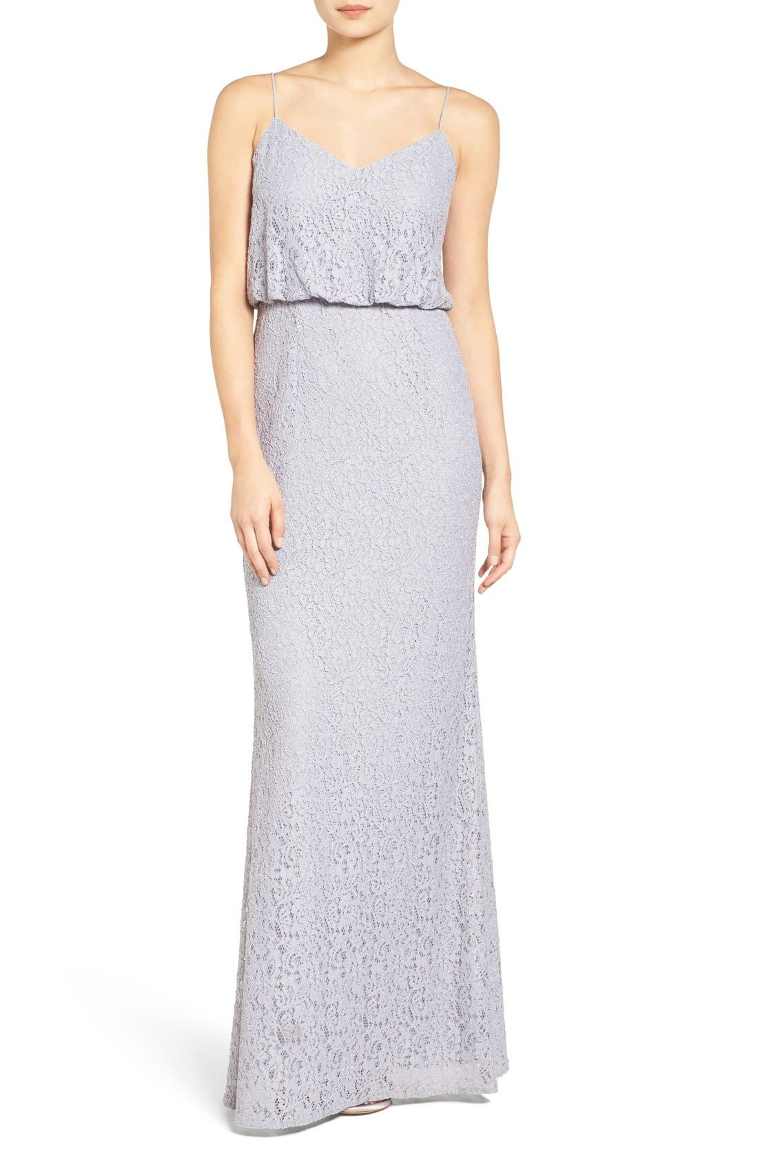 Adrianna Papell Lace Blouson Gown (Regular & Petite)