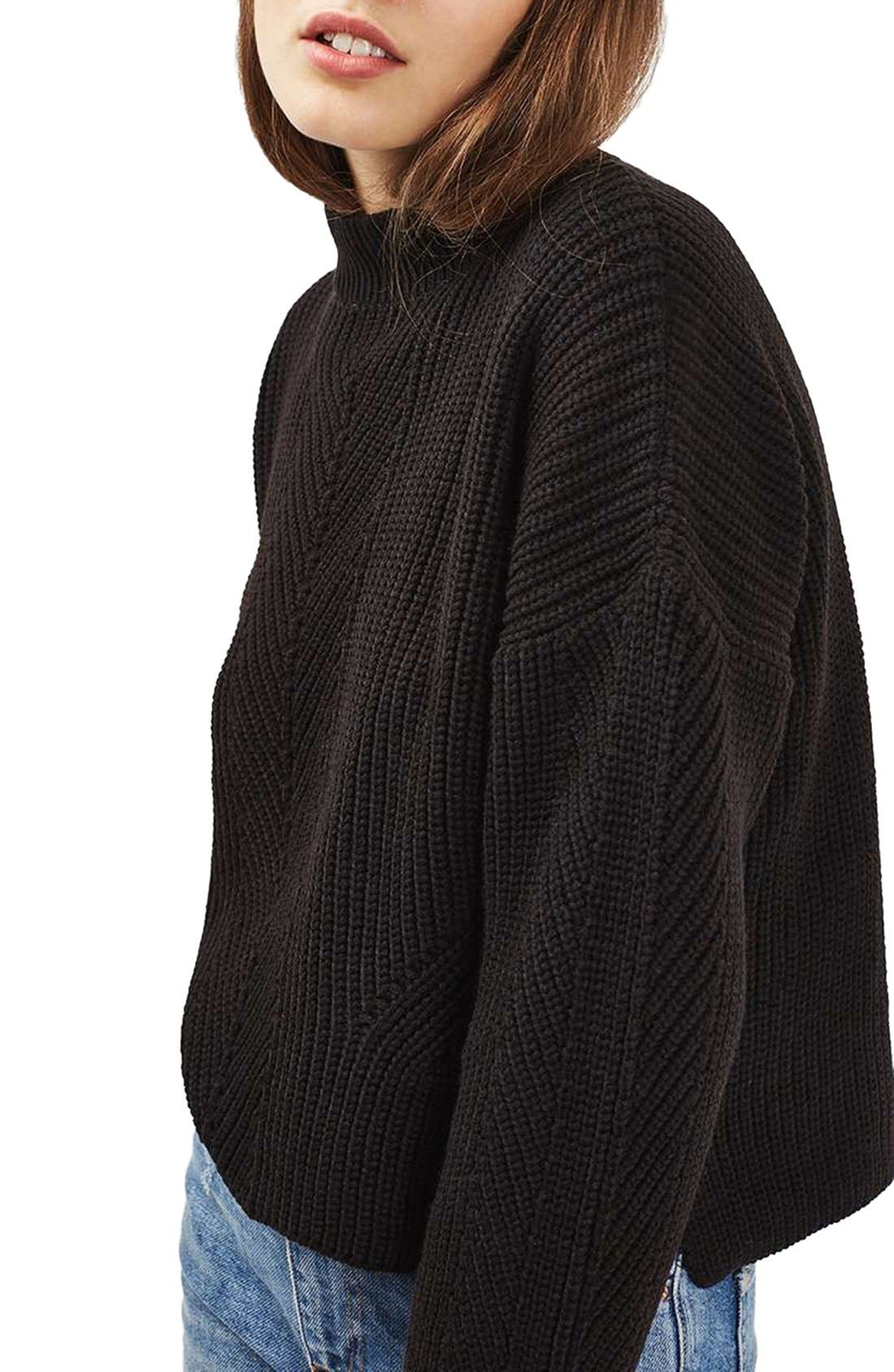 Alternate Image 6  - Topshop Ribbed Sweater