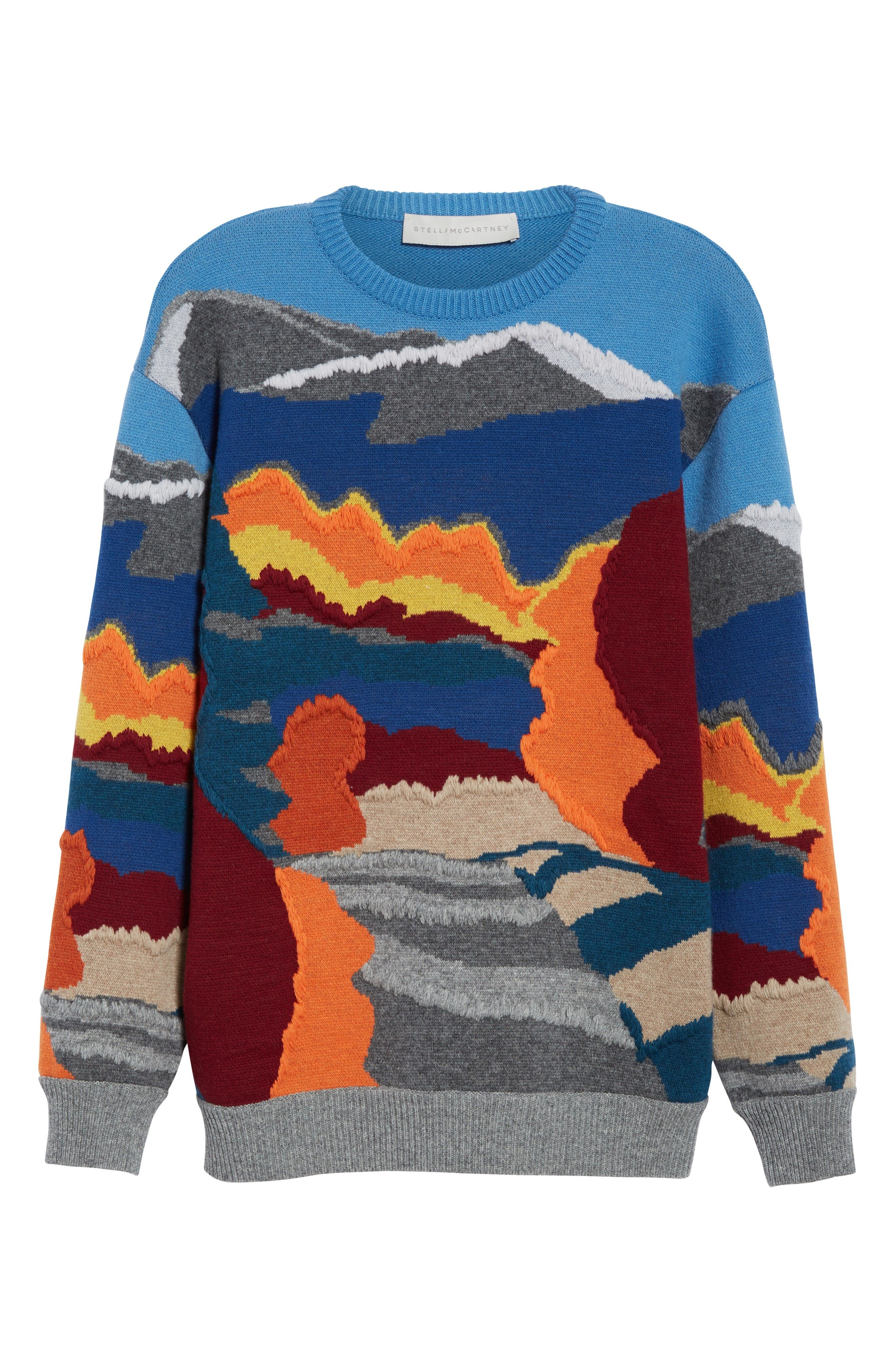 Alternate Image 4  - Stella McCartney 'Landscape' Intarsia Knit Wool Sweater