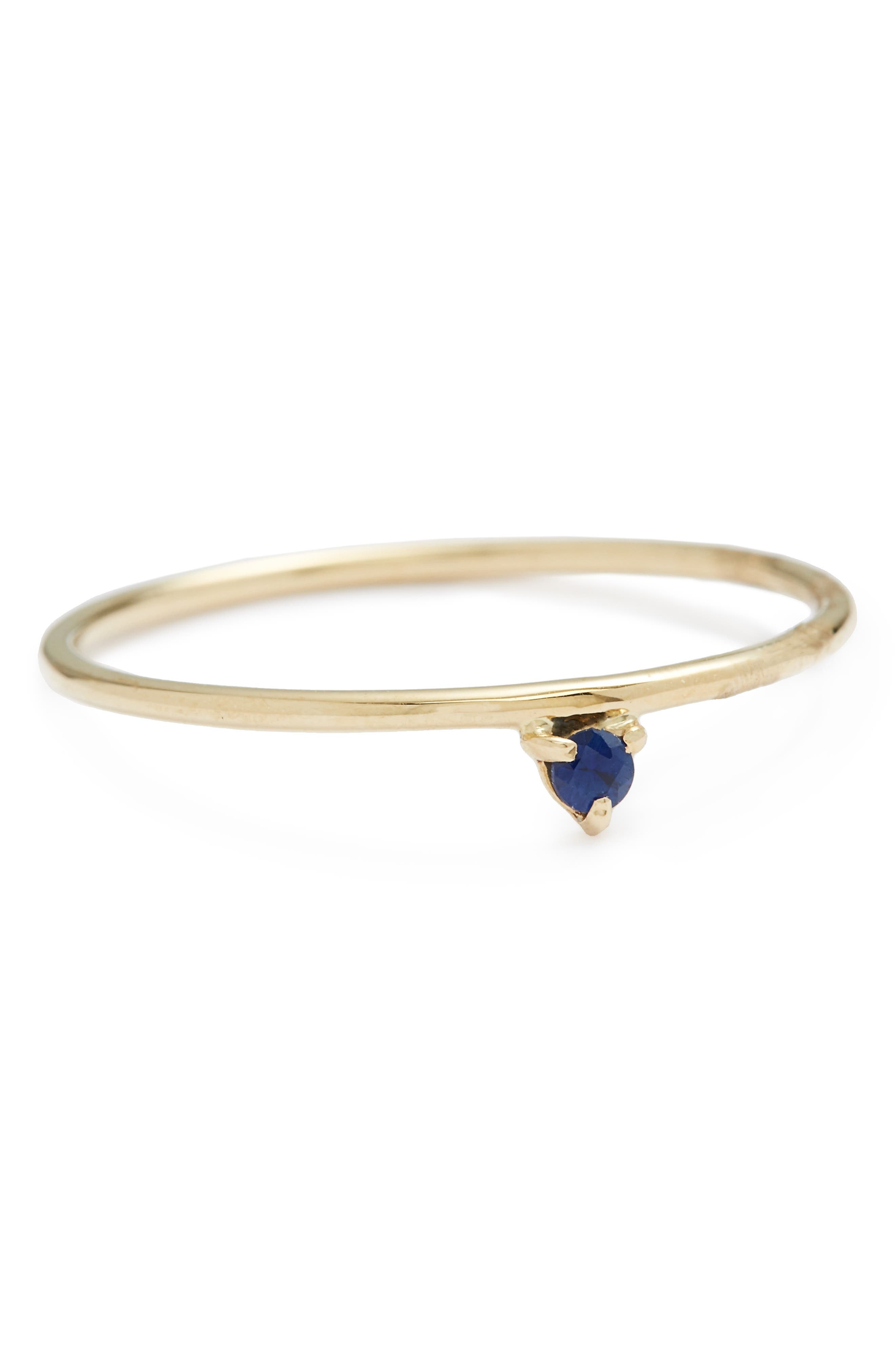 WWAKE One Step Sapphire Ring