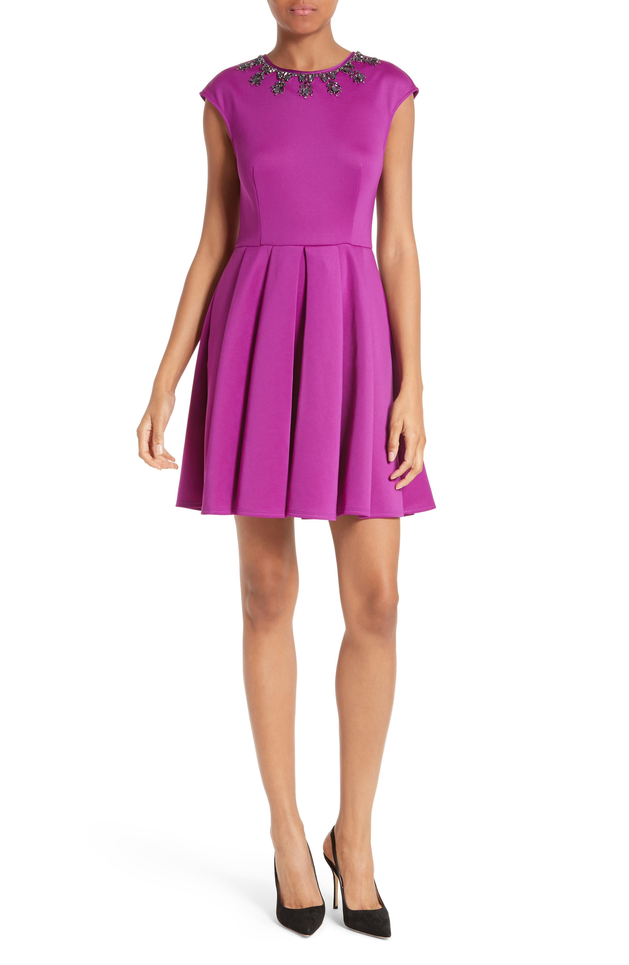 Main Image - Ted Baker London J'adore Embellished Fit & Flare Dress