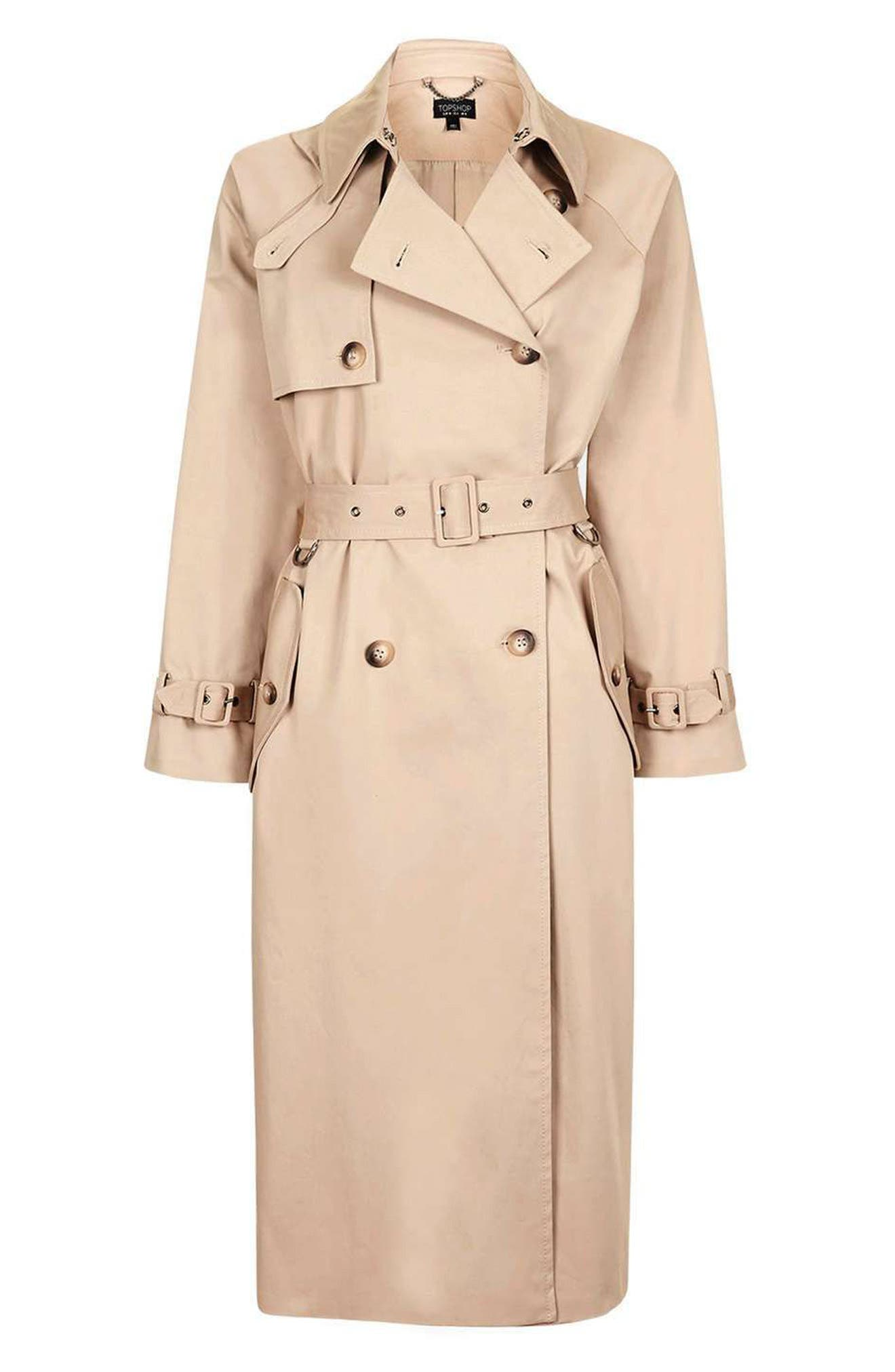 Alternate Image 4  - Topshop Trench Coat
