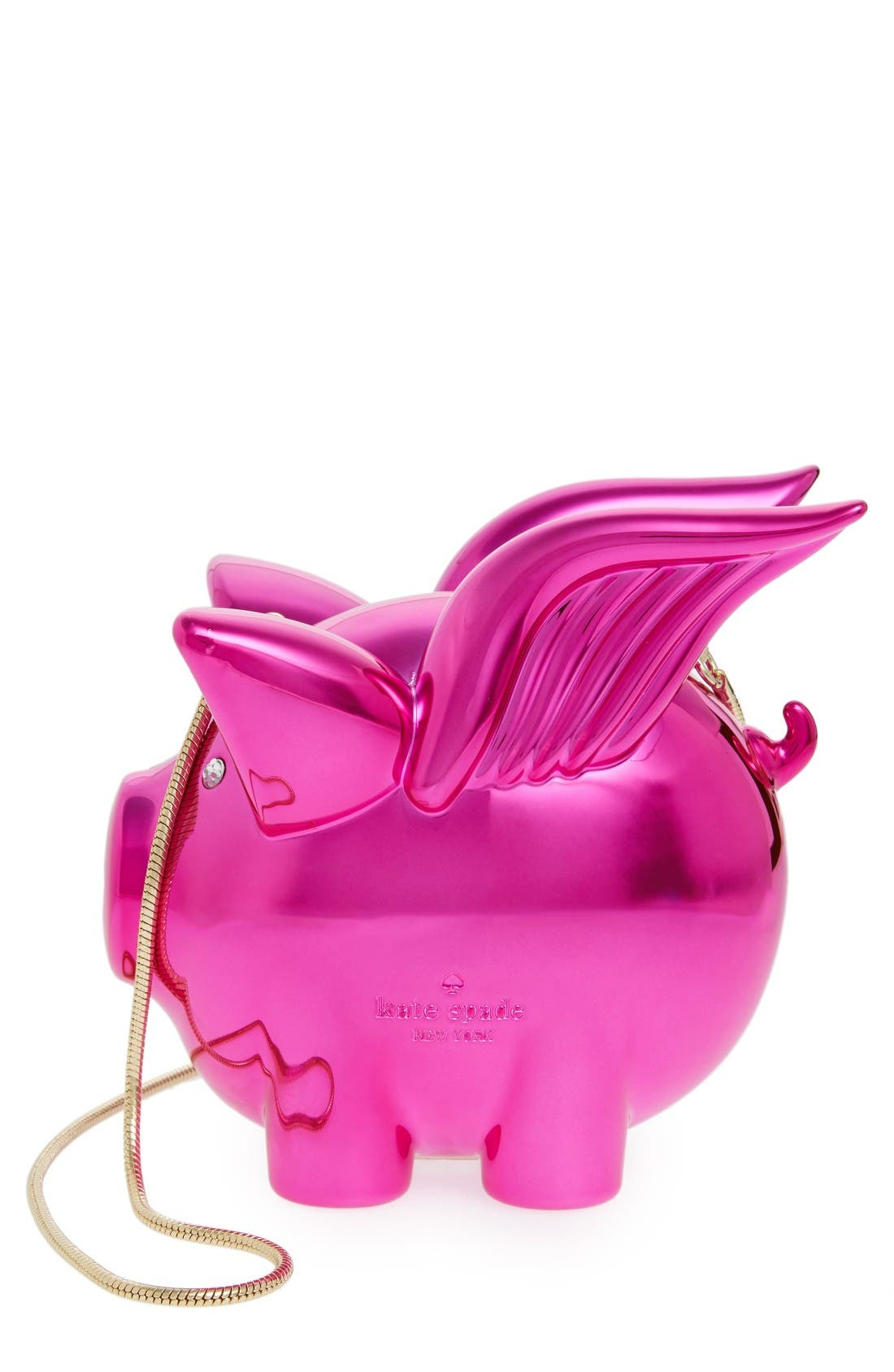 Main Image - kate spade new york when pigs fly frame clutch