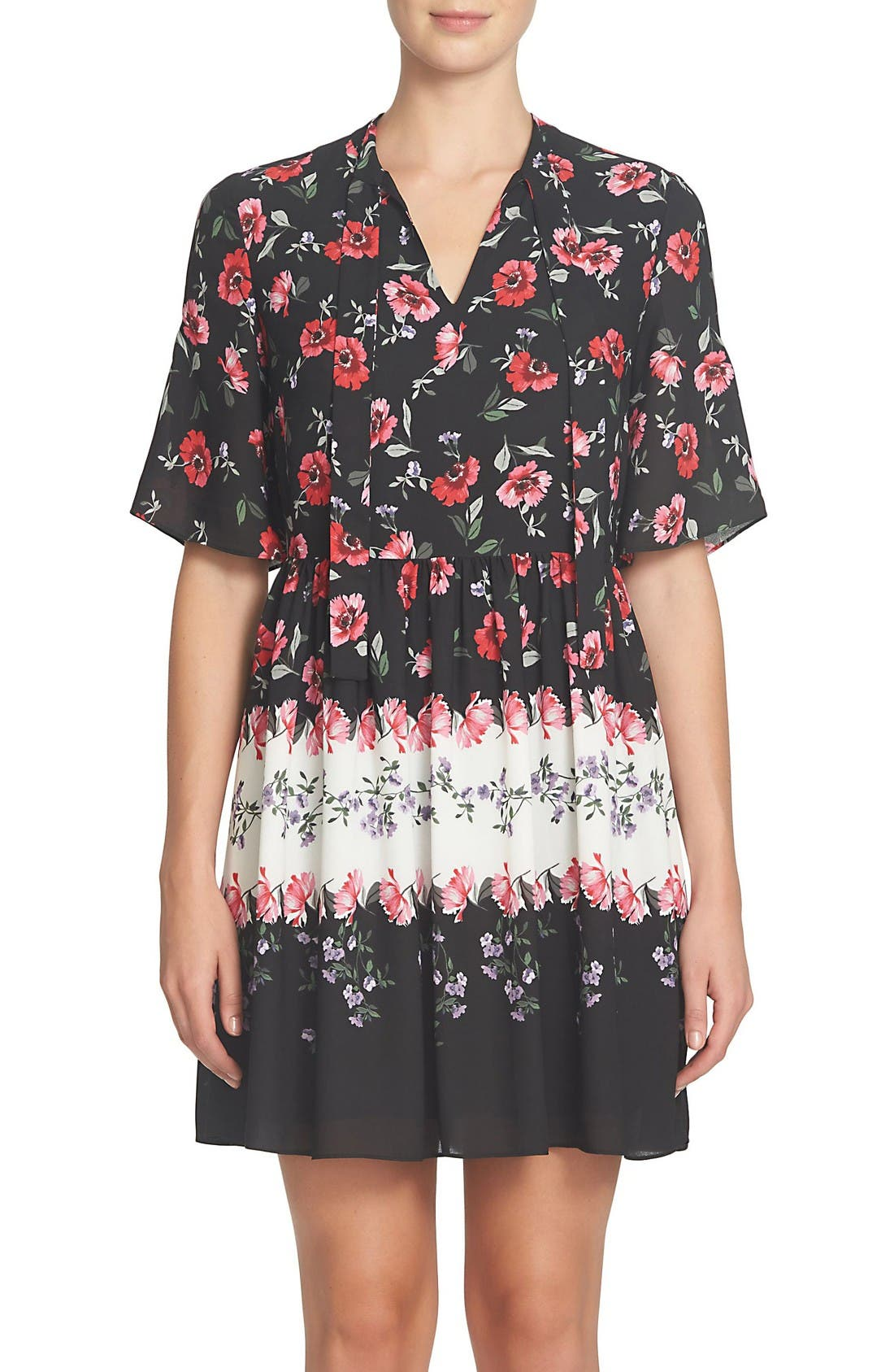 Main Image - CeCe Elise Floral Dress (Regular & Petite)