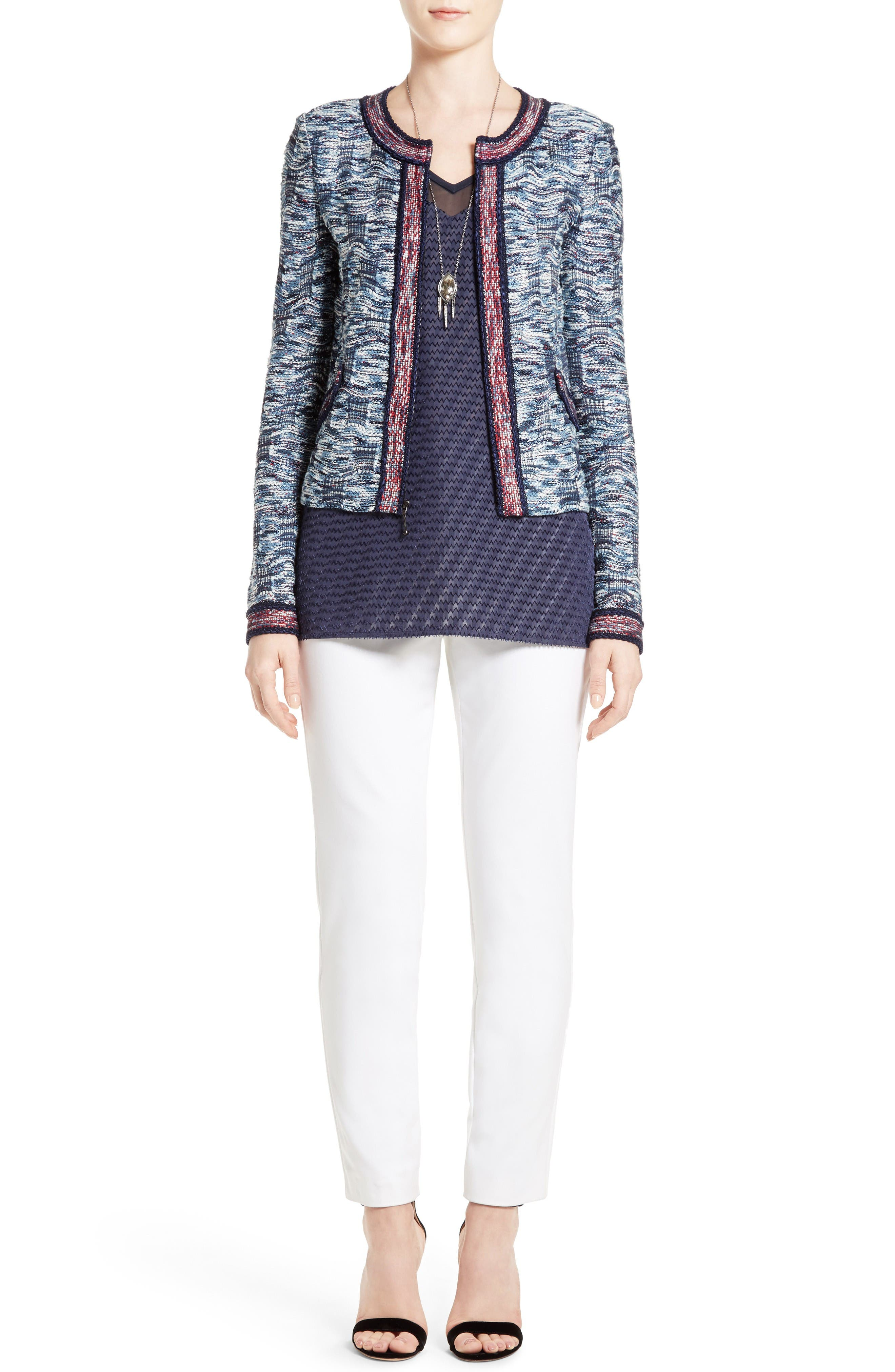 St. John Collection Jacket, Shell & Pants Outfit with Accessories