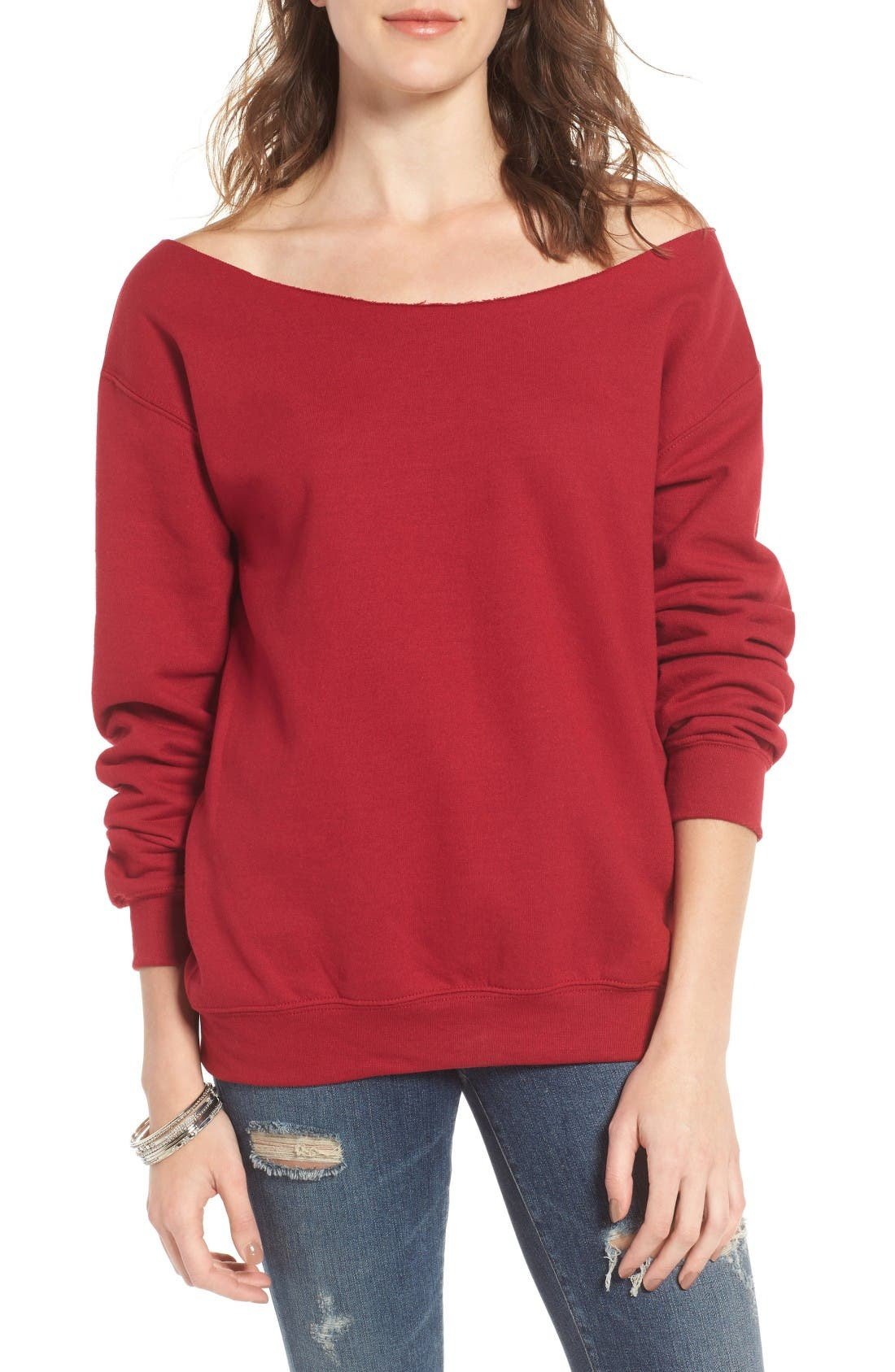 Alternate Image 1 Selected - Ten Sixty Sherman Off the Shoulder Sweatshirt