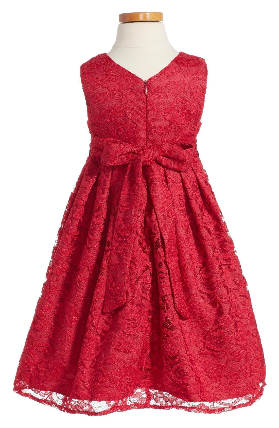 Alternate Image 2  - Pippa & Julie Lace Empire Waist Dress (Toddler Girls, Little Girls and Big Girls)