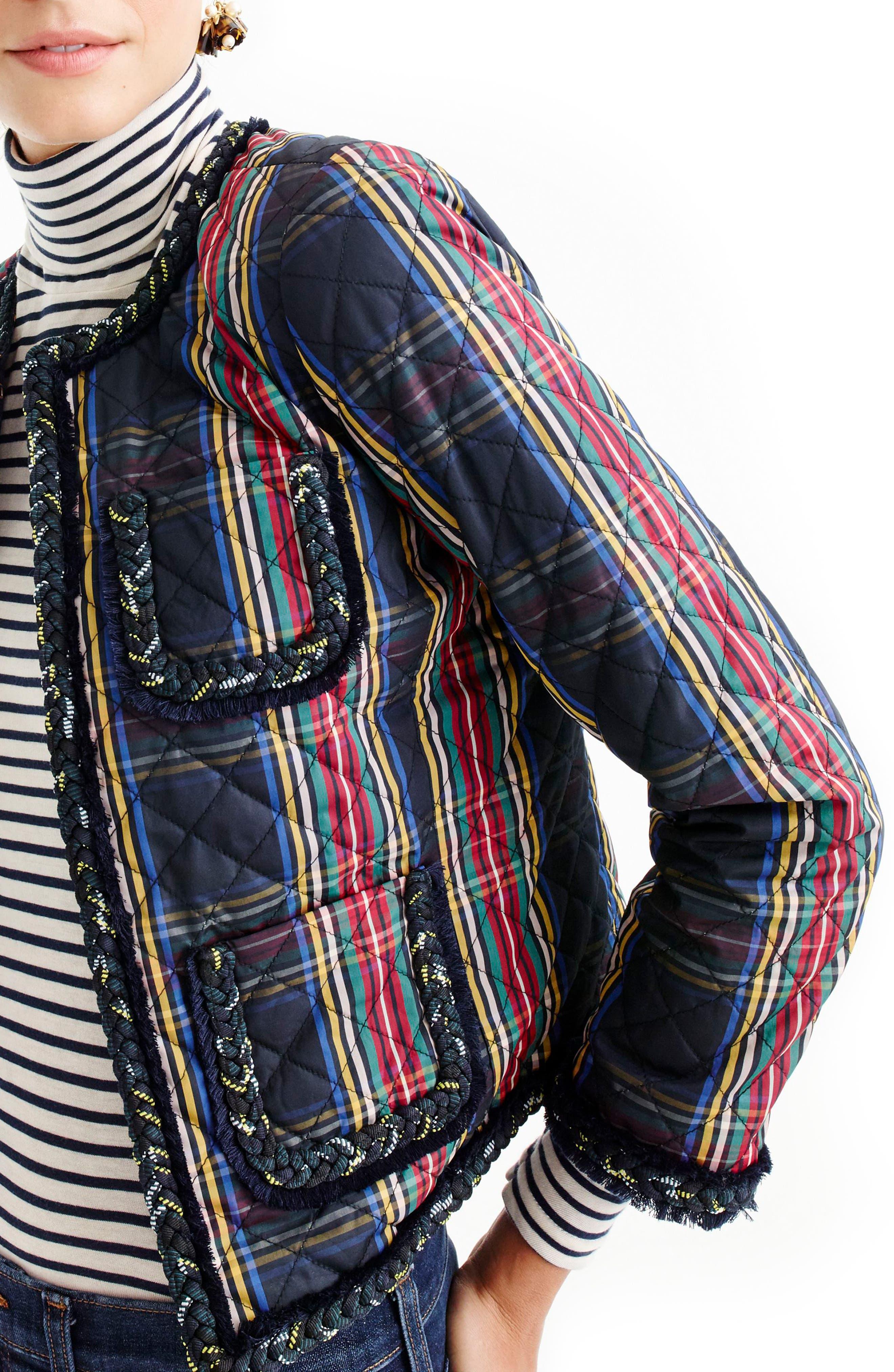 Alternate Image 3  - J.Crew Stewart Plaid Quilted Lady Jacket