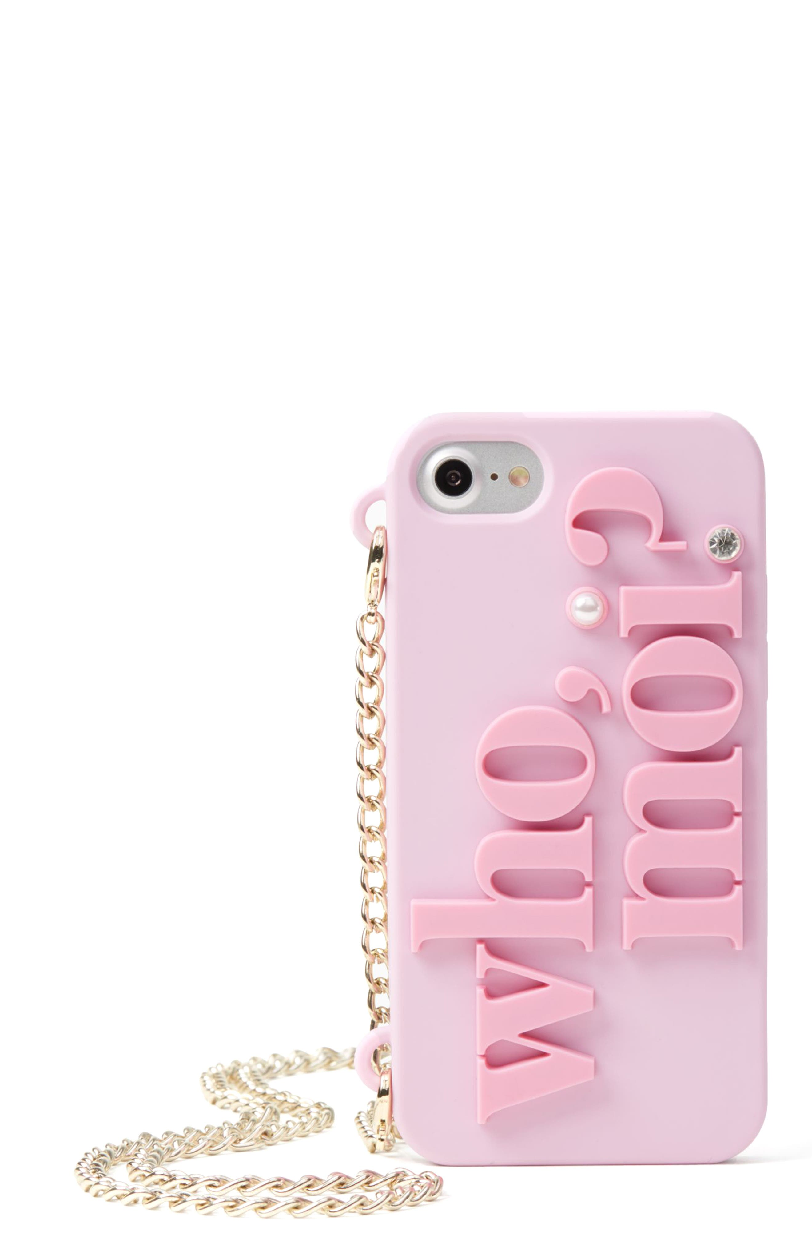 Alternate Image 1 Selected - kate spade new york who moi? miss piggy iPhone 7 case on a chain