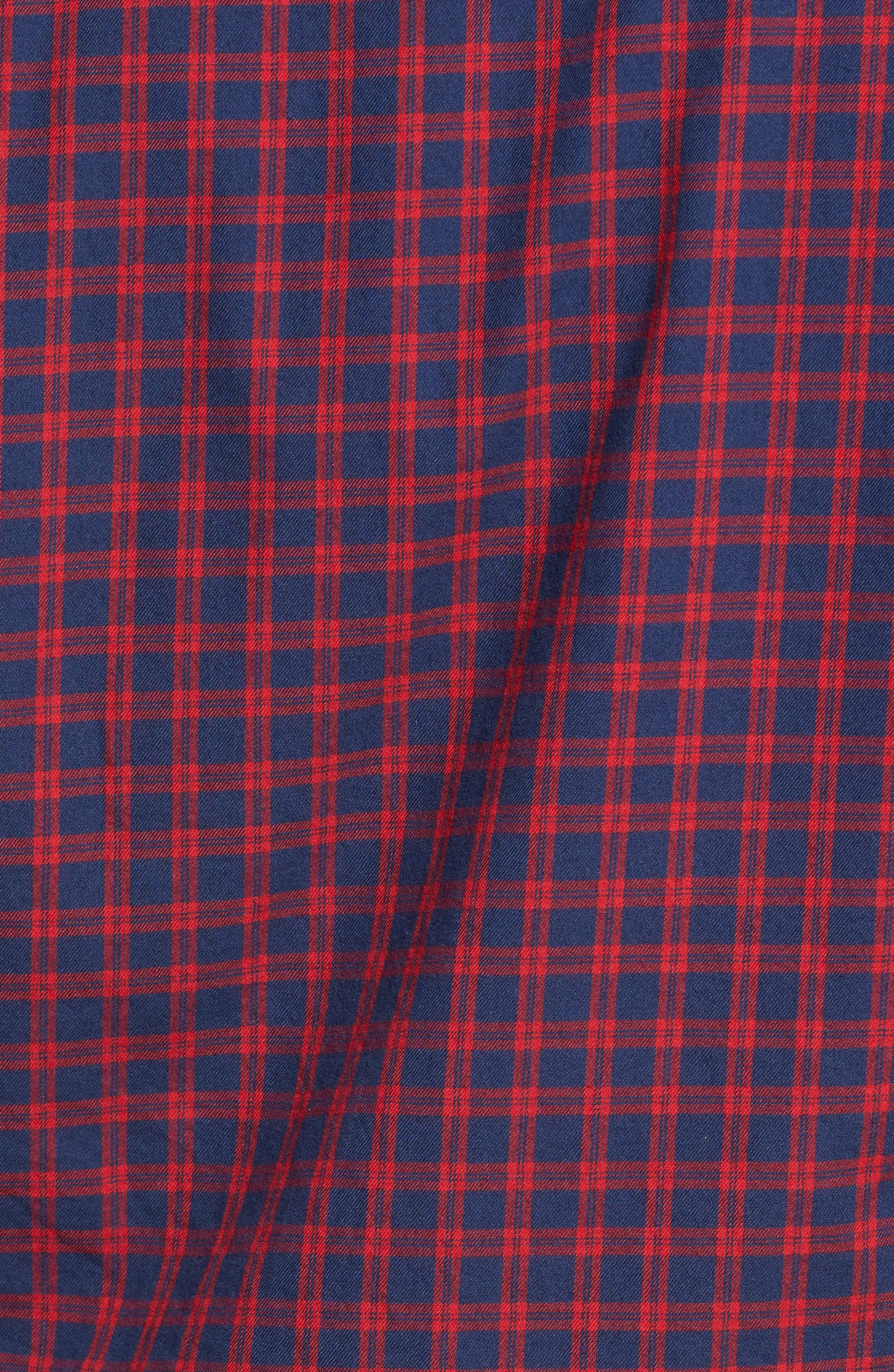 Alternate Image 5  - Nordstrom Men's Shop Classic Regular Fit Plaid Flannel Sport Shirt (Regular & Tall)