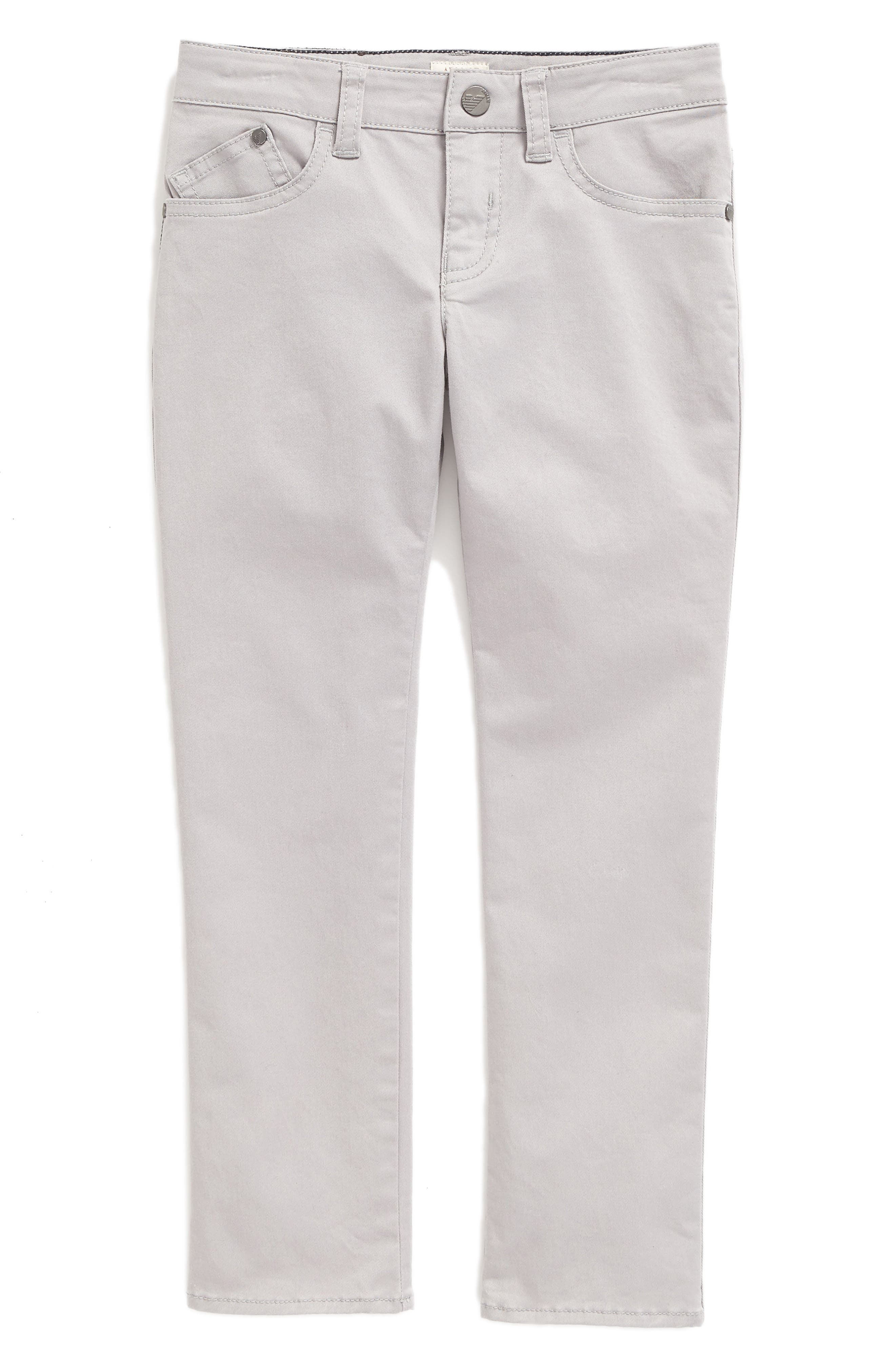ARMANI JUNIOR Stretch Cotton Twill Pants