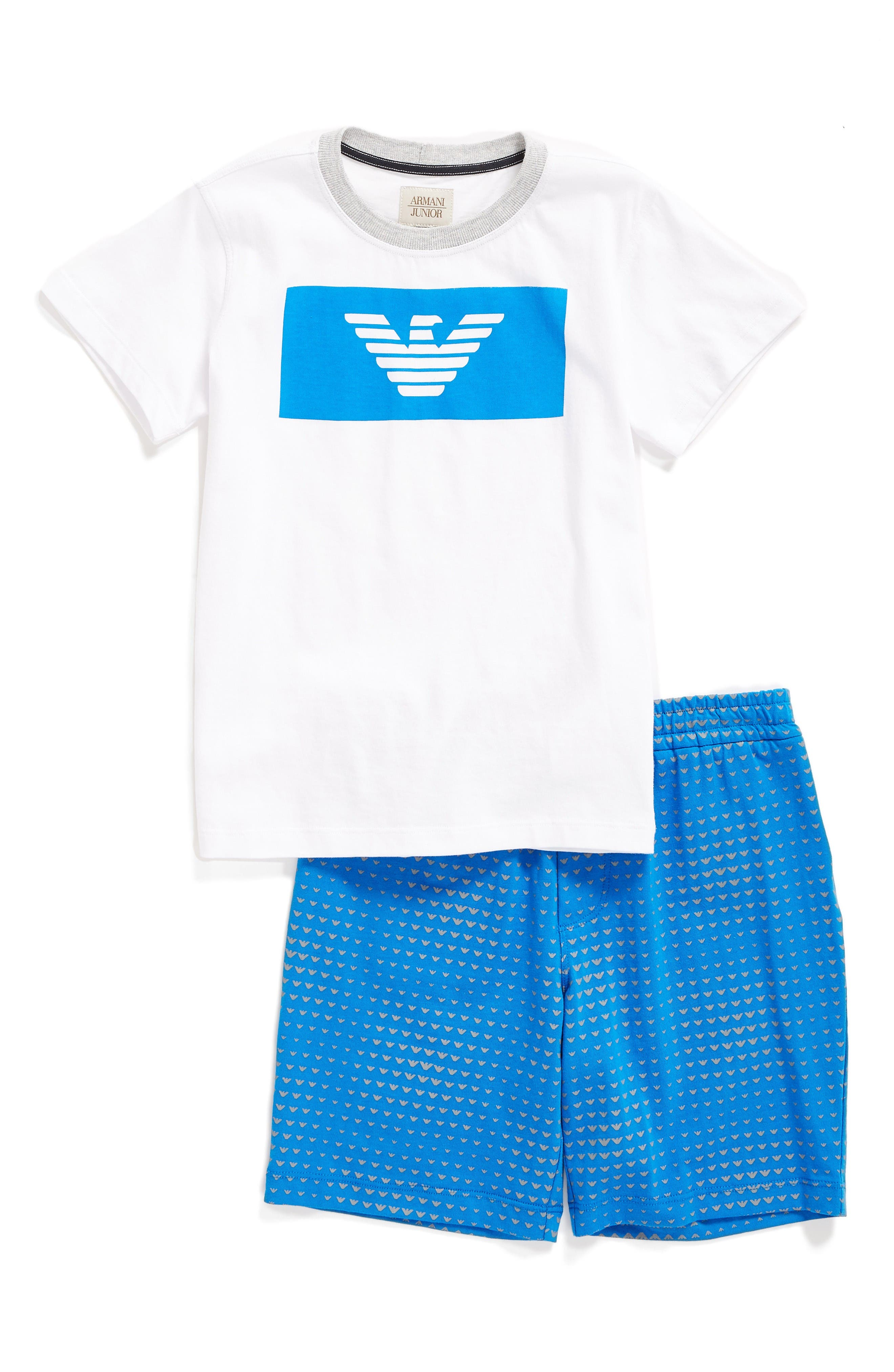 Armani Junior Logo T-Shirt & Shorts Set (Little Boys & Big Boys)