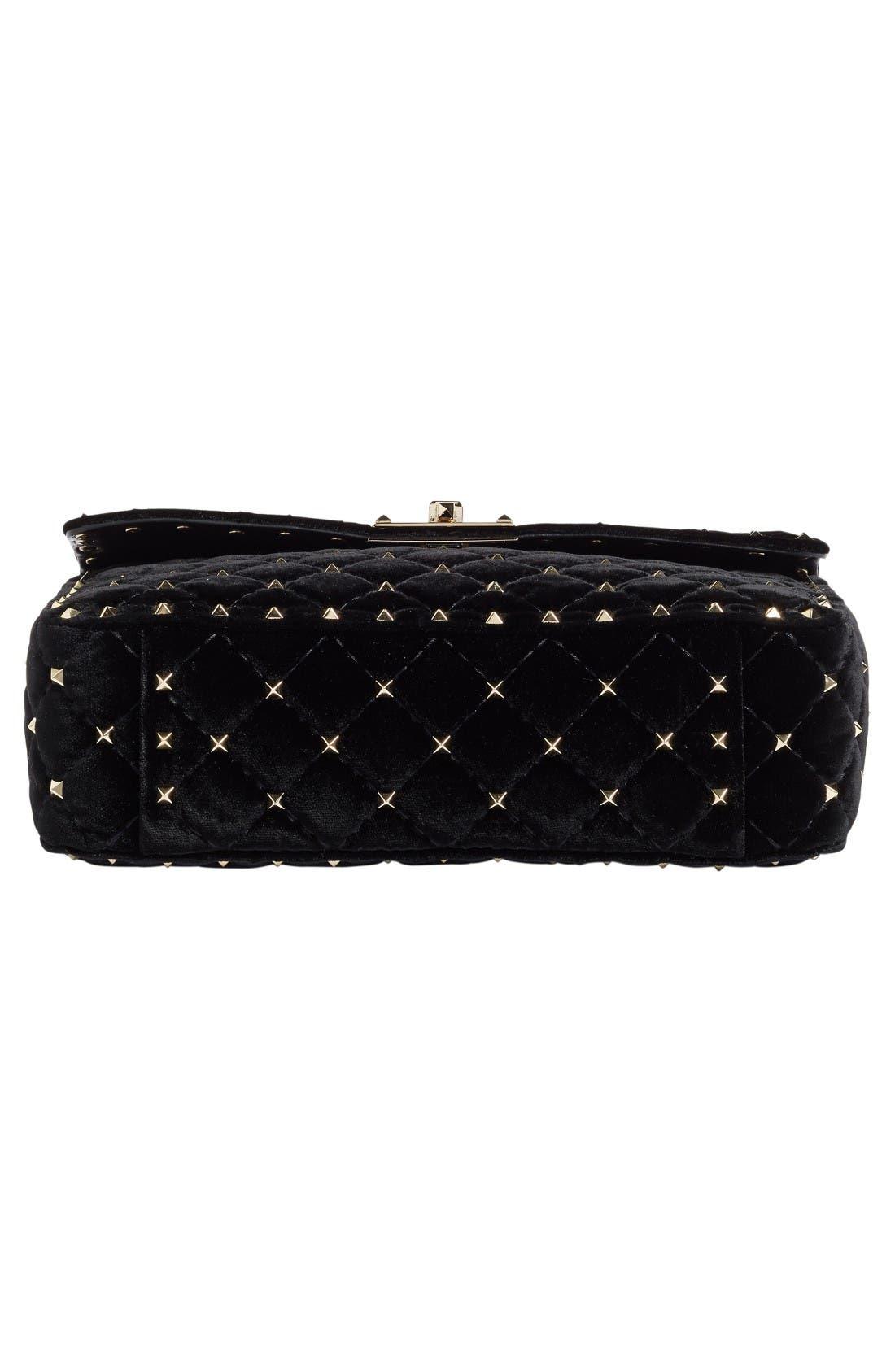 Alternate Image 5  - Valentino Rockstud Spike Velvet Shoulder Bag