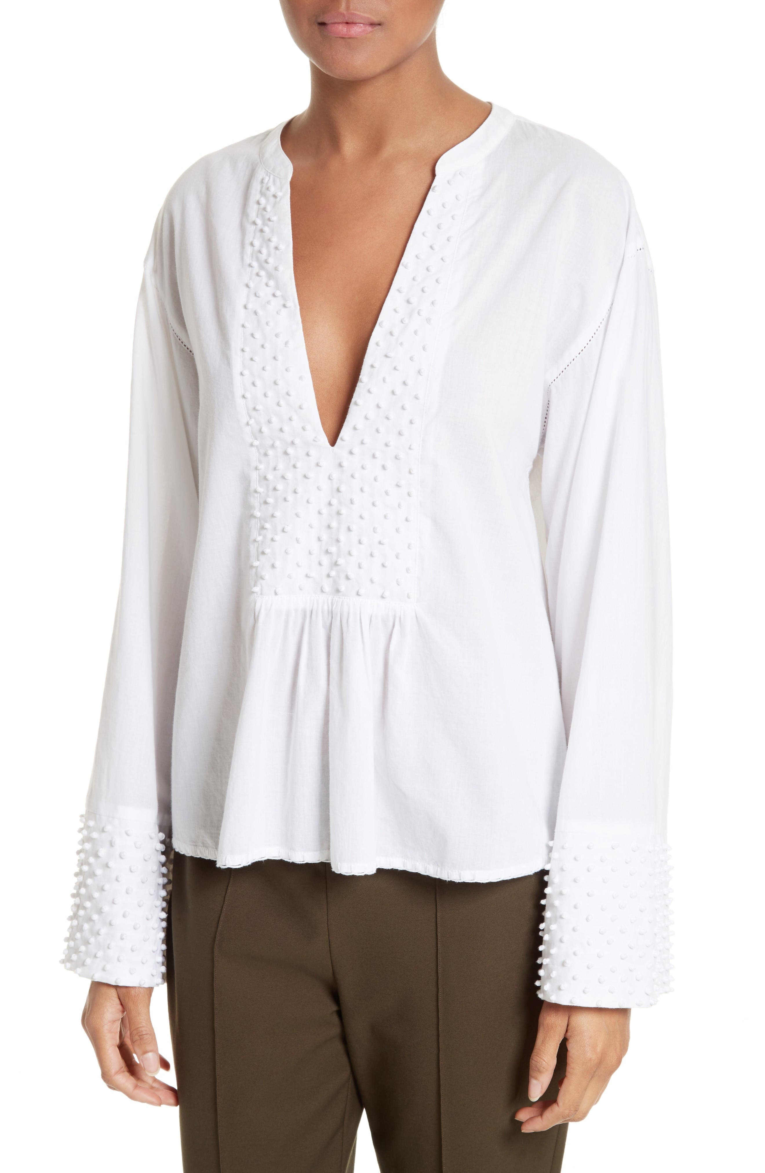 Alternate Image 4  - Theory Matara E Embroidered Cotton Top