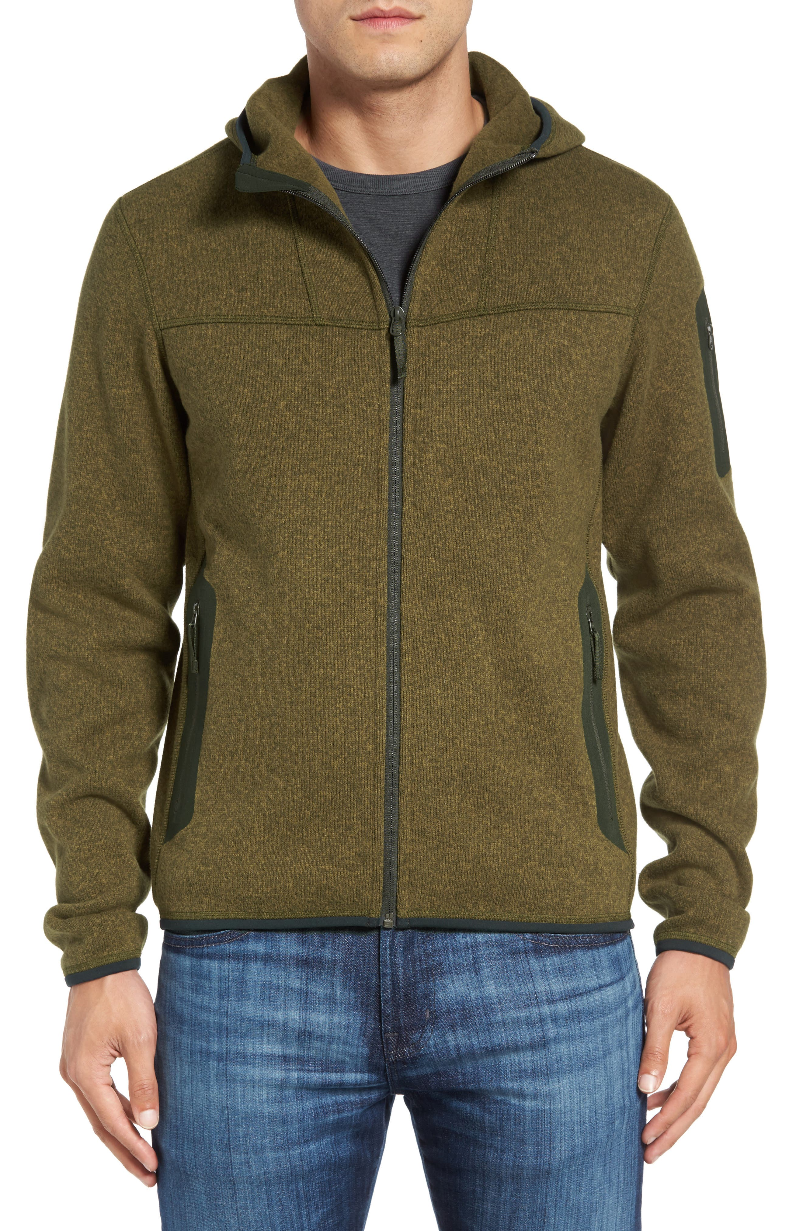 ARC'TERYX 'Covert' Relaxed Fit Technical Fleece Full Zip
