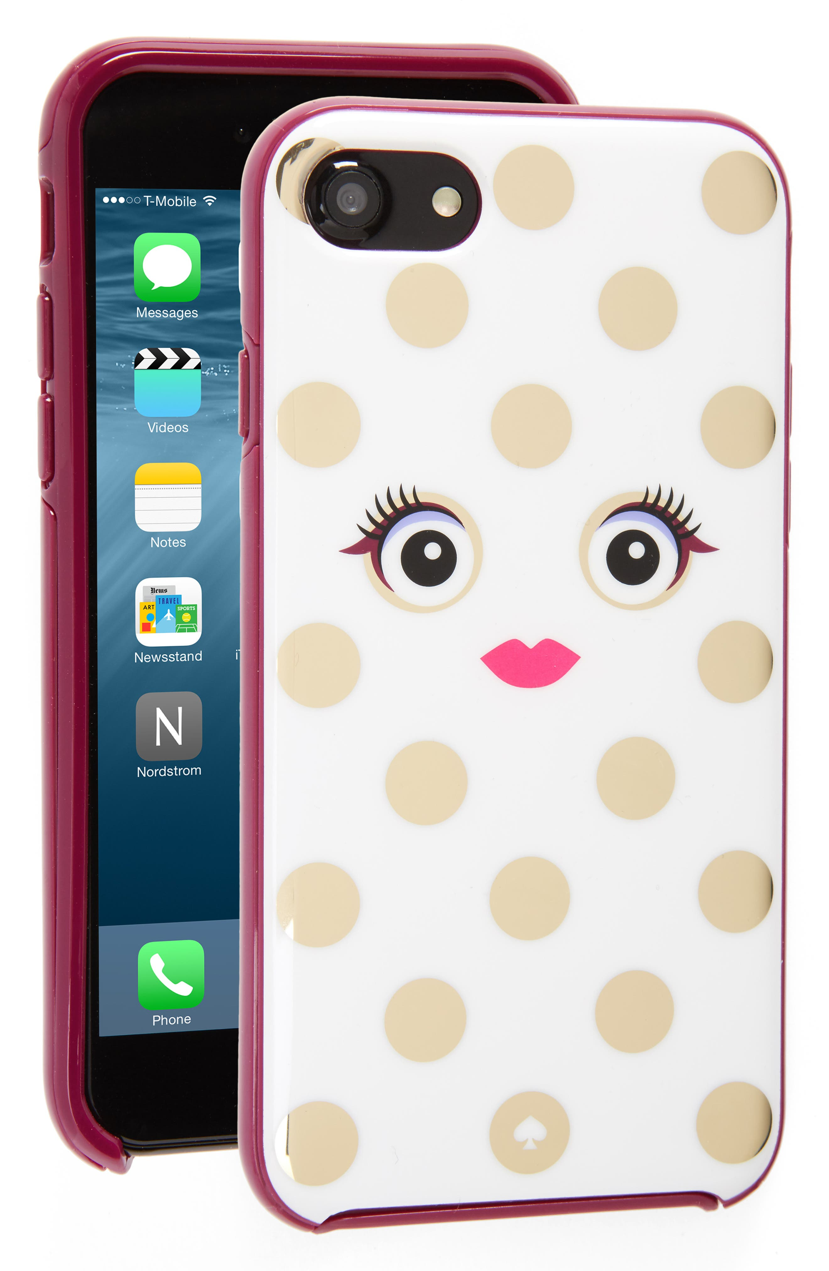 Alternate Image 1 Selected - kate spade new york framed picture dot monster iPhone 7/7s case