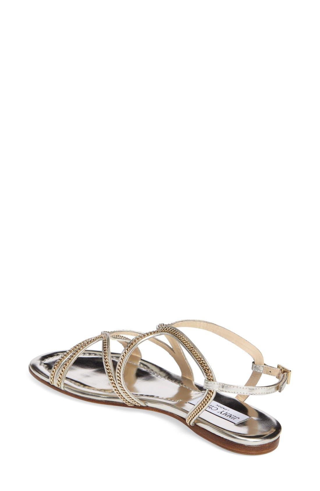 Alternate Image 2  - Jimmy Choo Nickel Flat Sandal (Women)