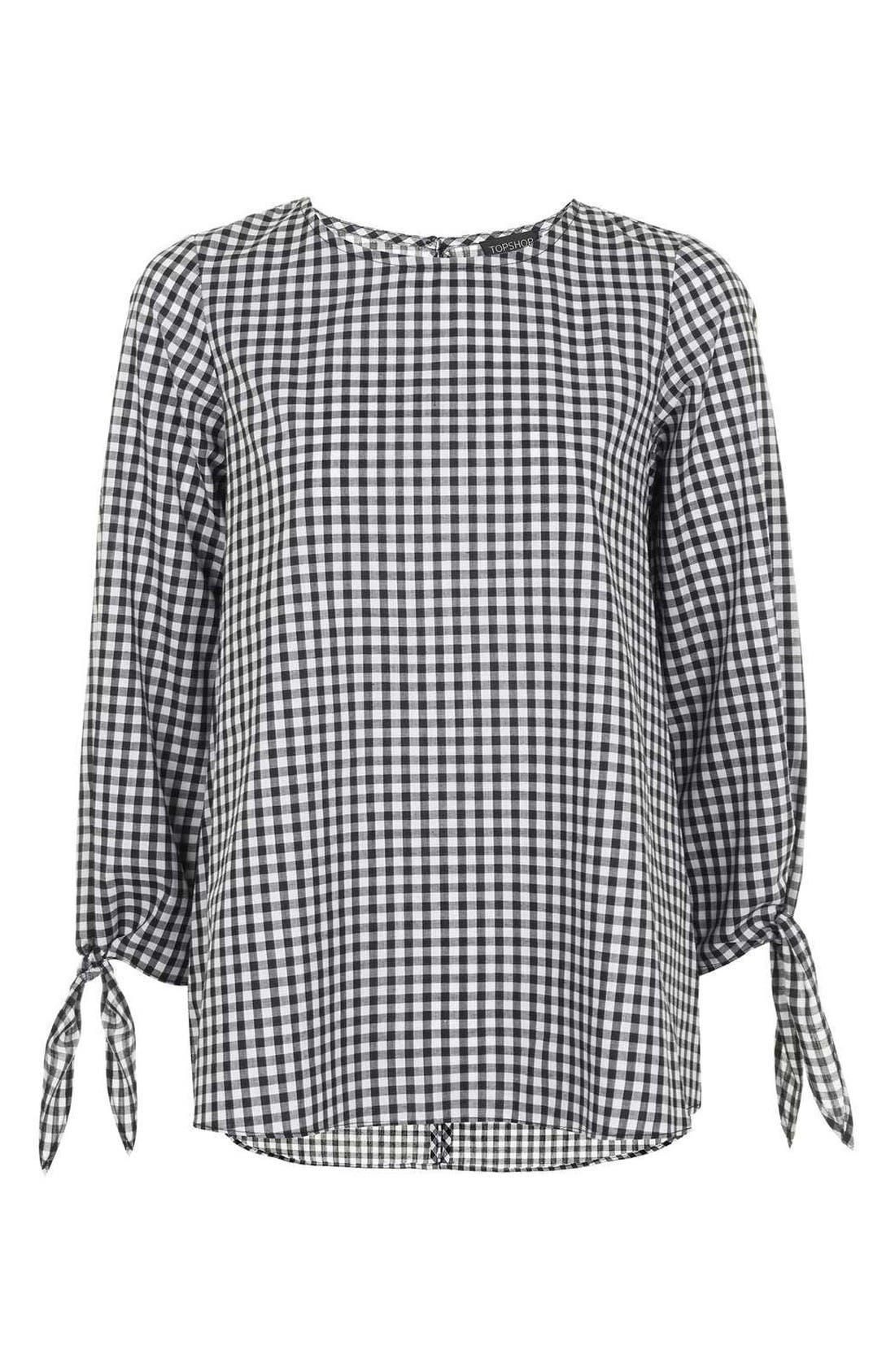 Alternate Image 4  - Topshop Gingham Top