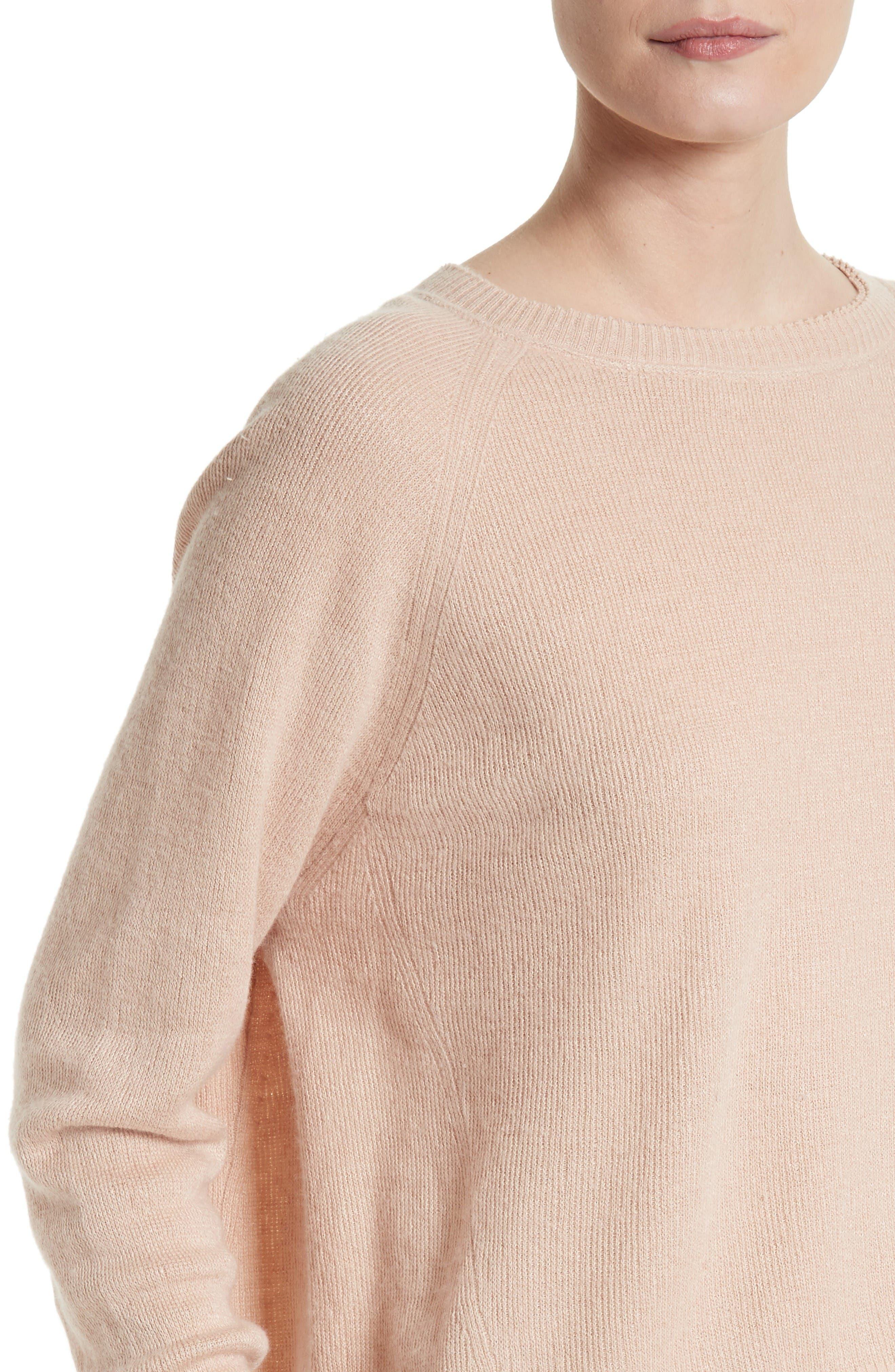 Alternate Image 4  - Vince Boxy Cashmere & Linen Pullover