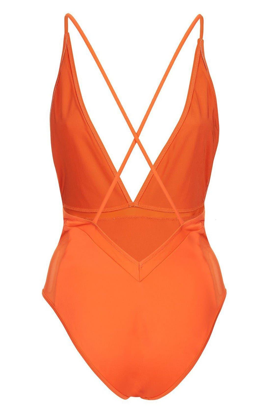 Alternate Image 2  - Topshop Cindy One-Piece Swimsuit
