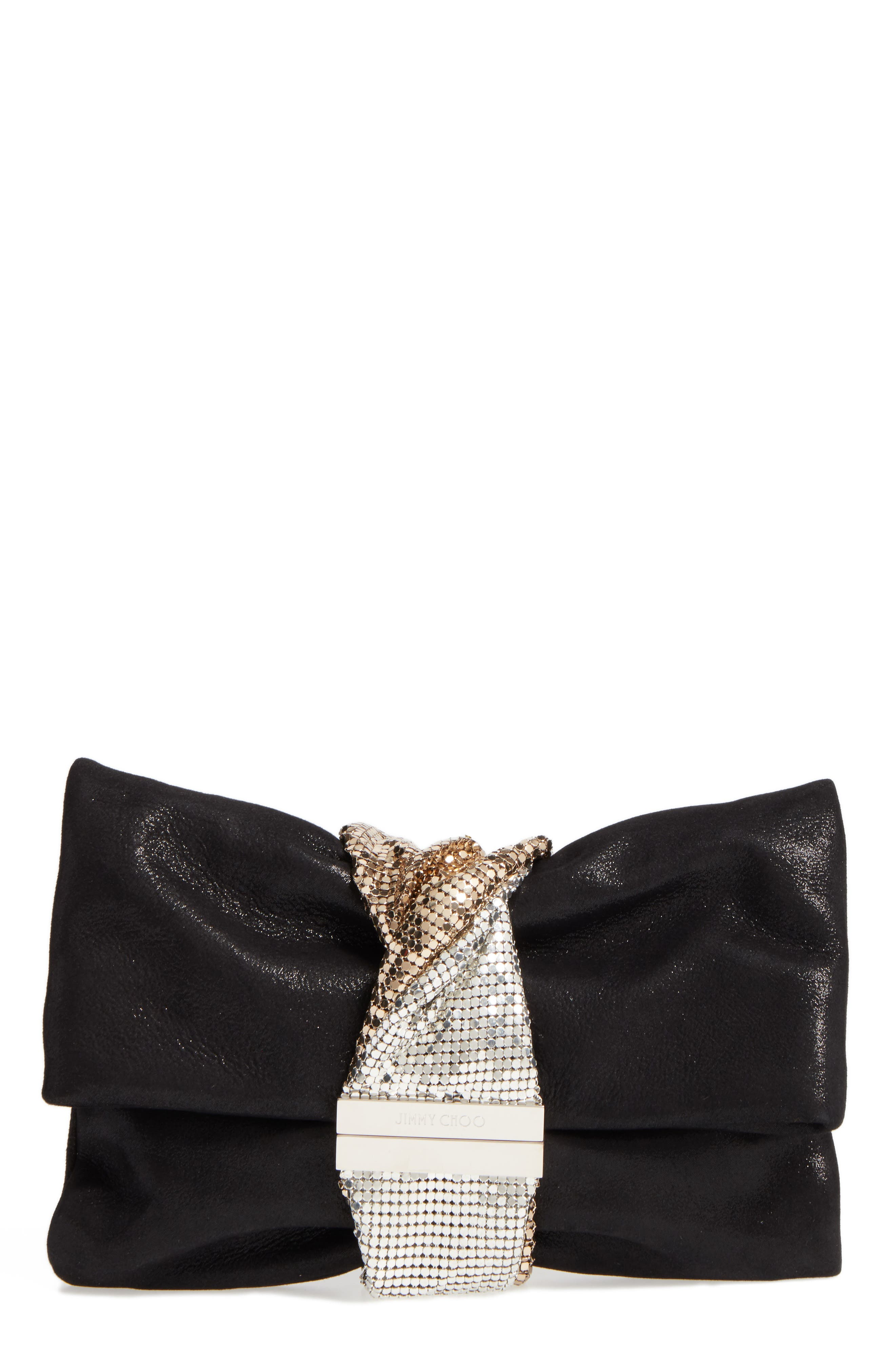 Main Image - Jimmy Choo Chandra Shimmer Suede Clutch