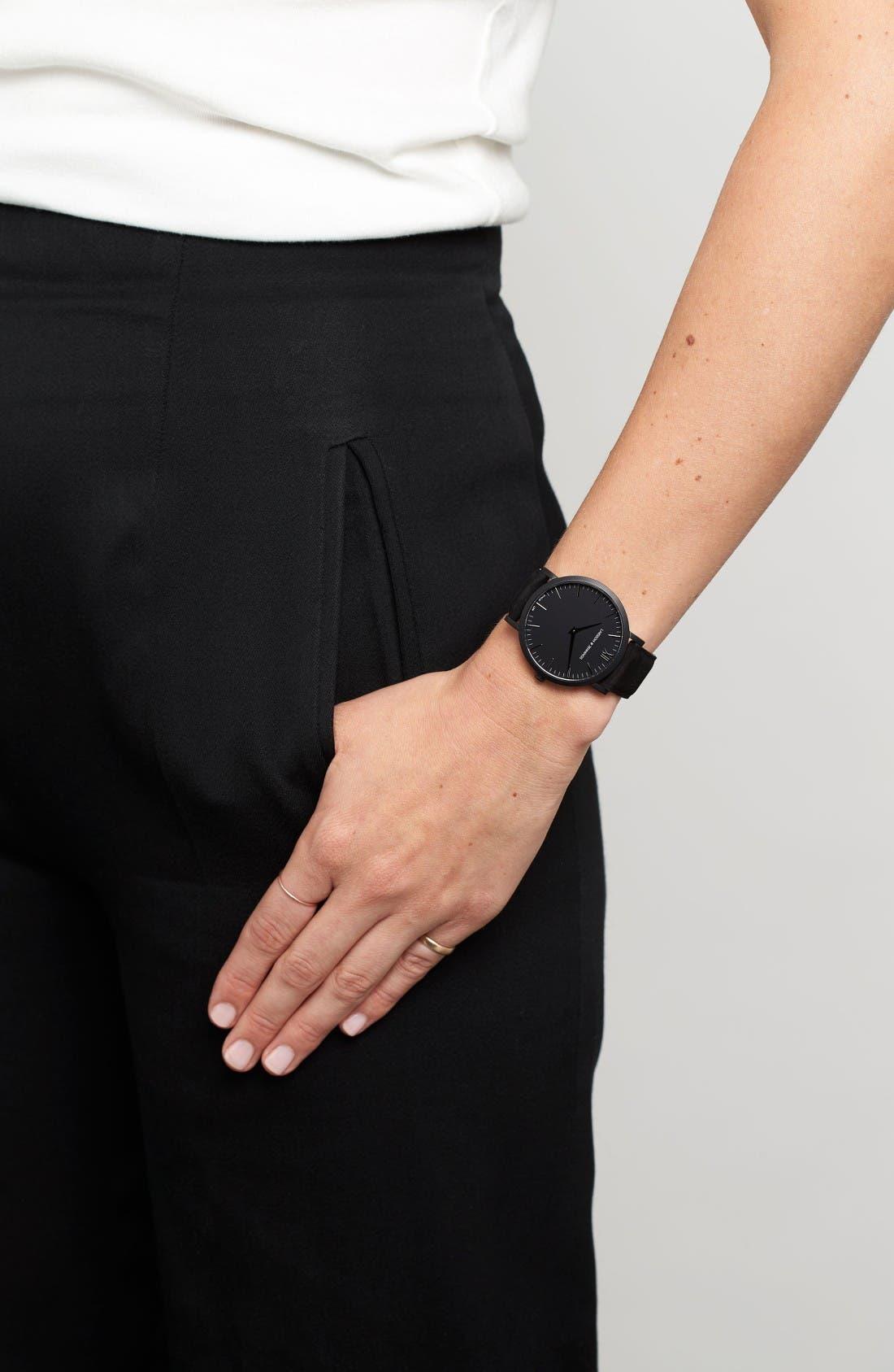 Alternate Image 7  - Larsson & Jennings 'Lugano' Leather Strap Watch, 40mm