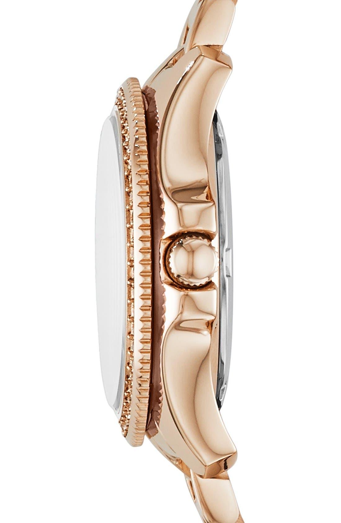 Alternate Image 3  - Fossil 'Cecile' Notched Bezel Bracelet Watch, 25mm