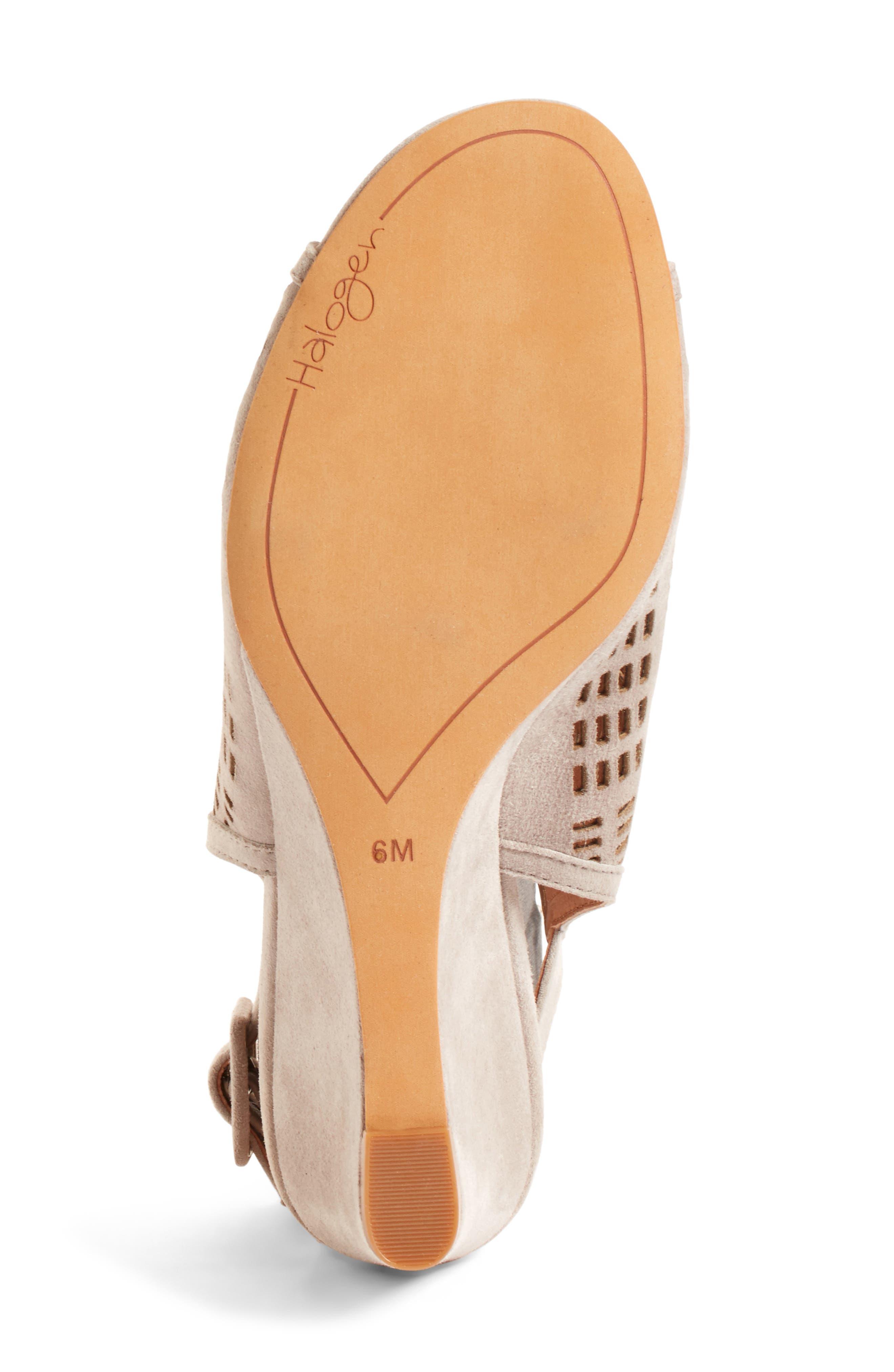 Alternate Image 4  - Halogen® Rosina Laser Cut Wedge Sandal (Women)